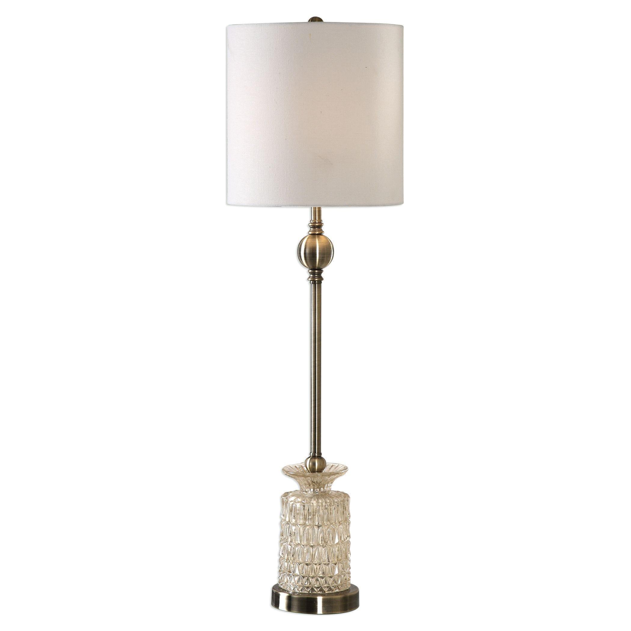 Uttermost Flaviana Antique Brass Buffet Lamp   Free Shipping Today    Overstock.com   20351062