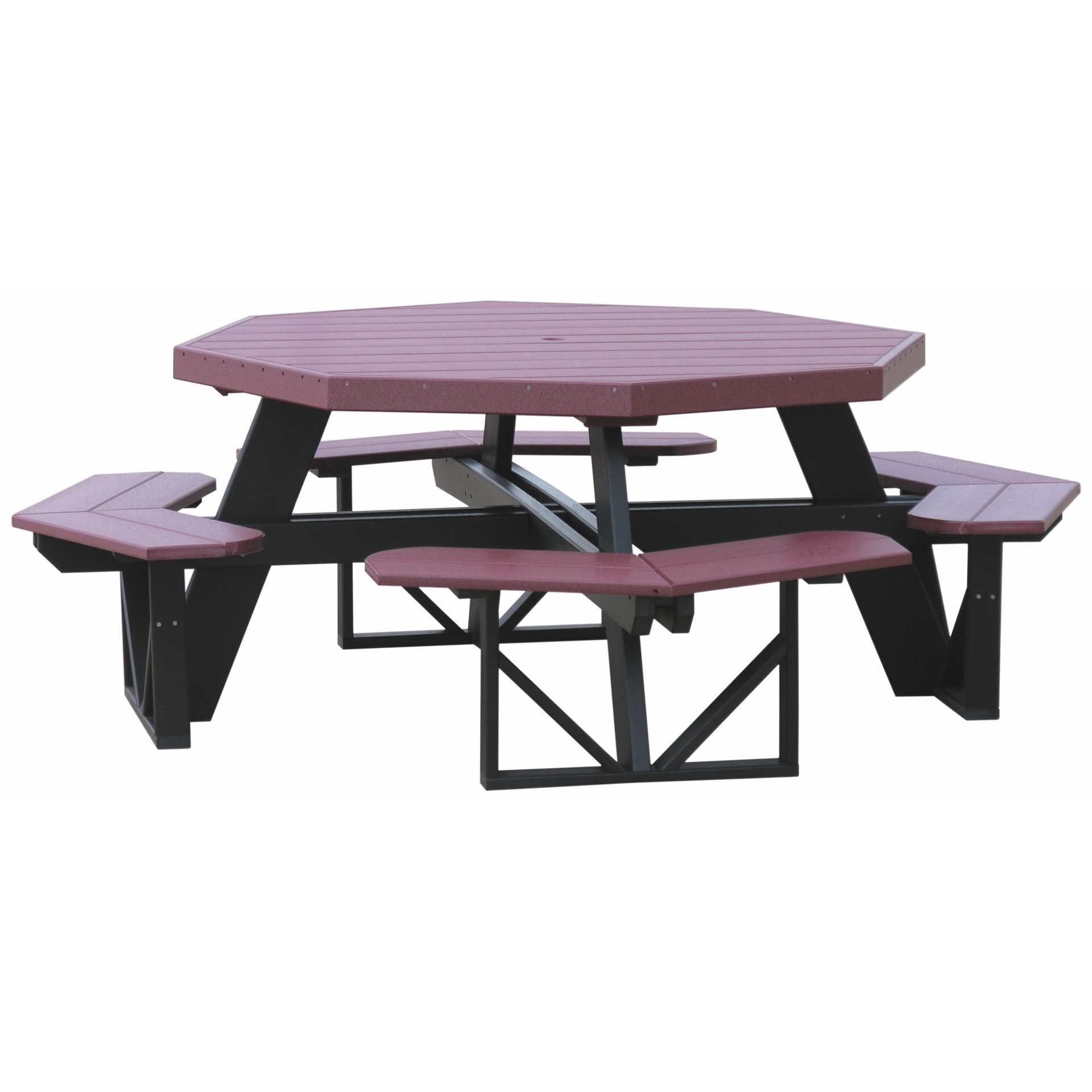 Shop Poly Furniture Wood Octagon Walk In Picnic Table Free - Walk in picnic table