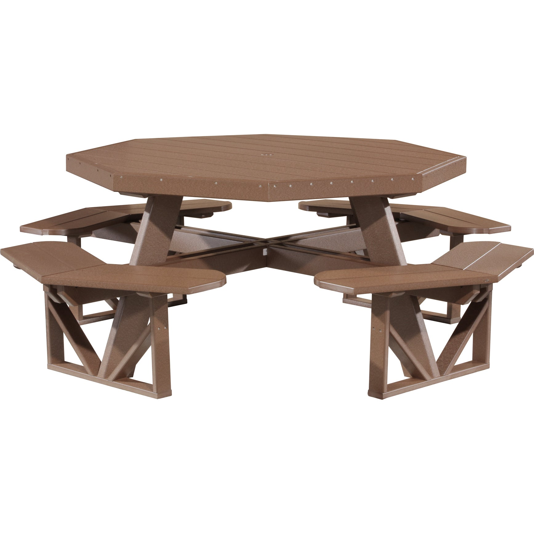 Shop Poly Furniture Wood Octagon Walk In Picnic Table Free - 96 picnic table