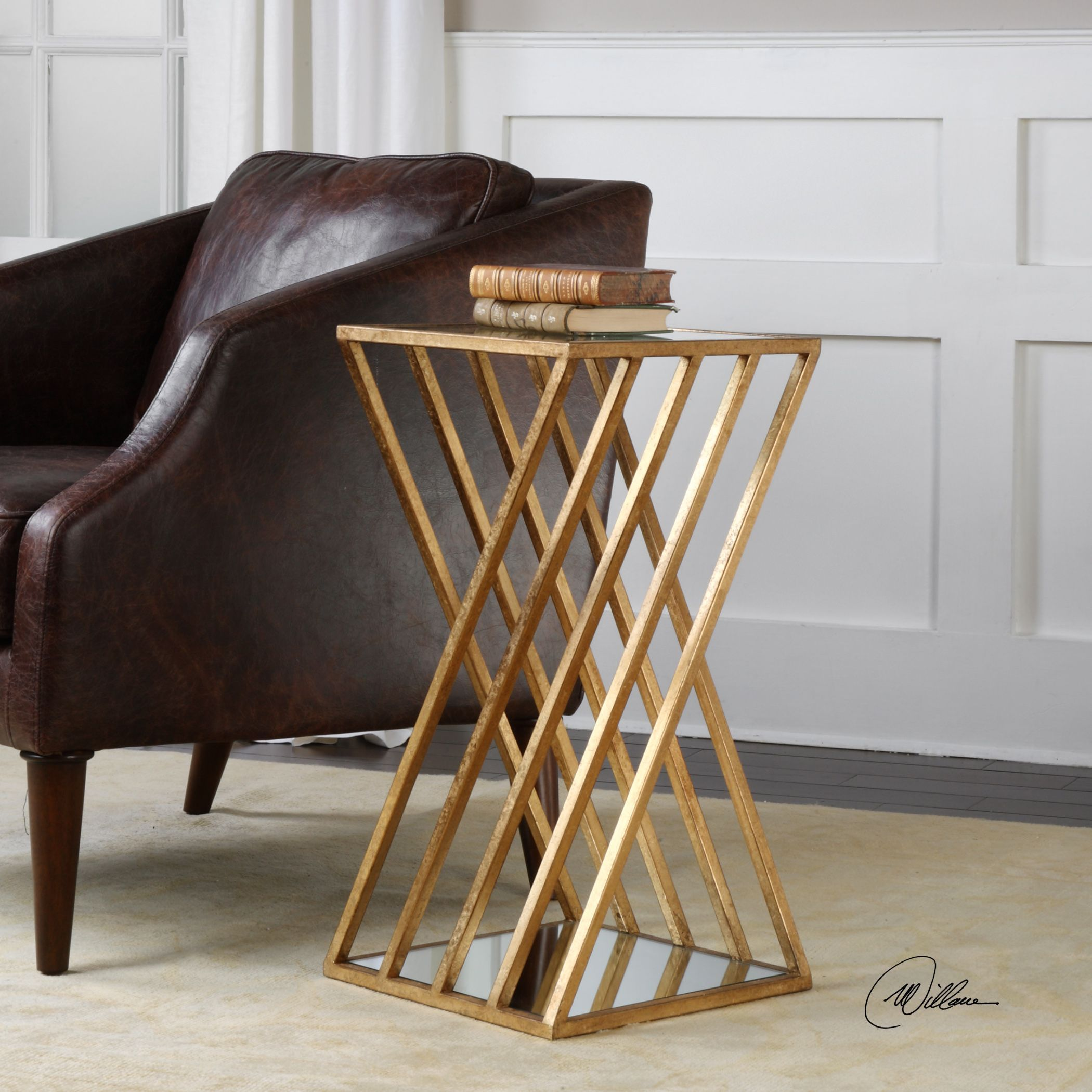 Shop Uttermost Janina Gold Dimensional Accent Table Free Shipping