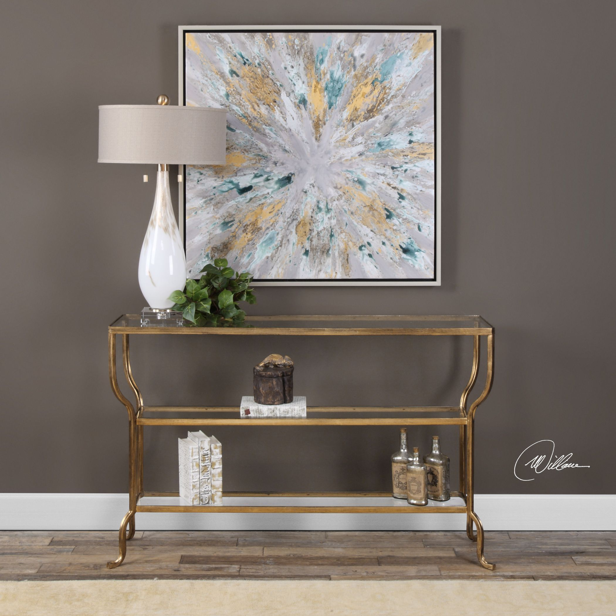 Uttermost Deline Gold Console Table Free Shipping Today