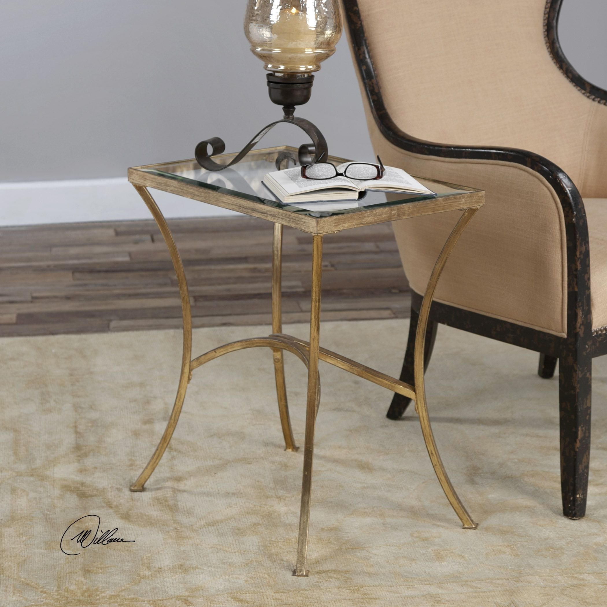 Uttermost Alayna Gold End Table   Free Shipping Today   Overstock   20352651