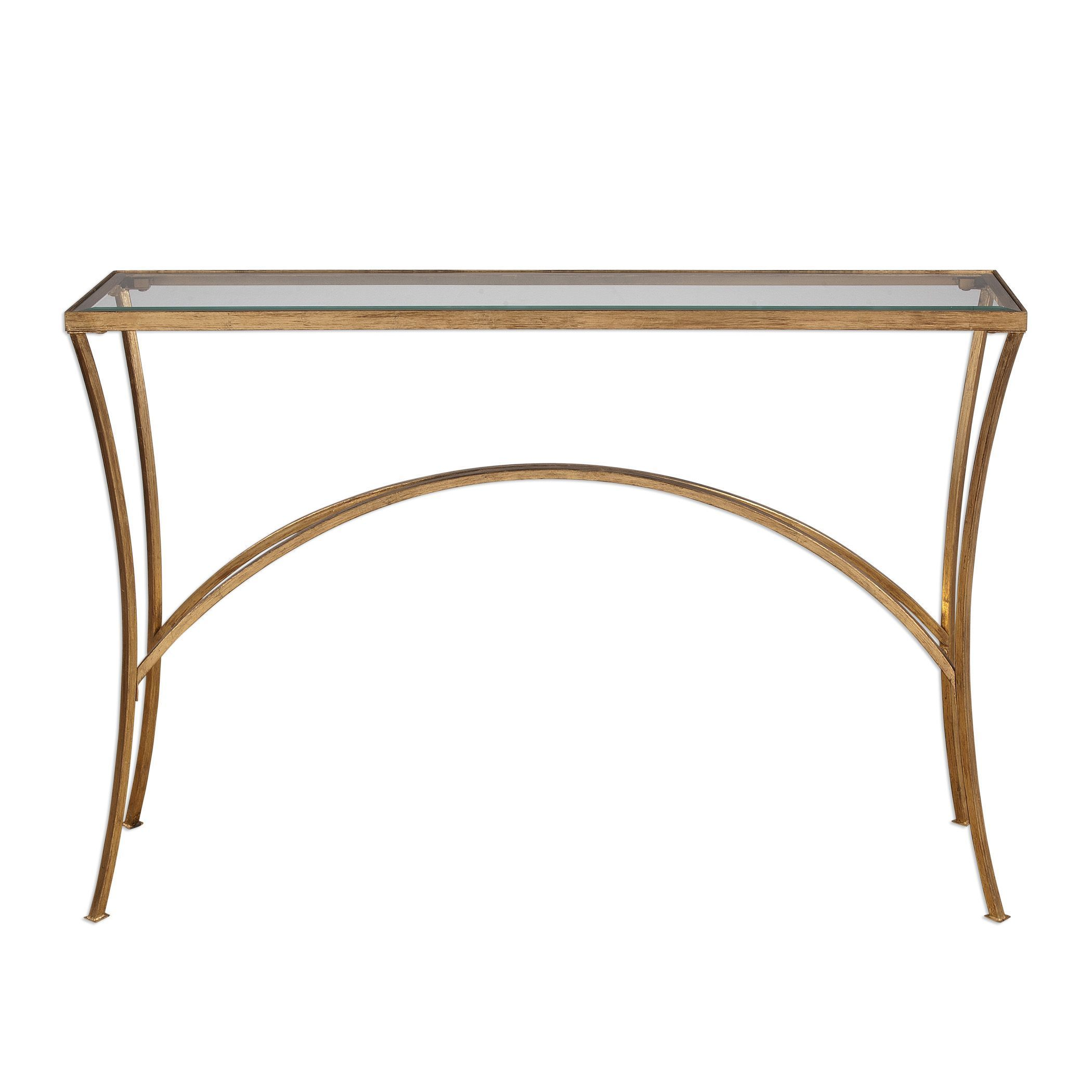 Uttermost Alayna Gold Console Table   Free Shipping Today   Overstock    20352653