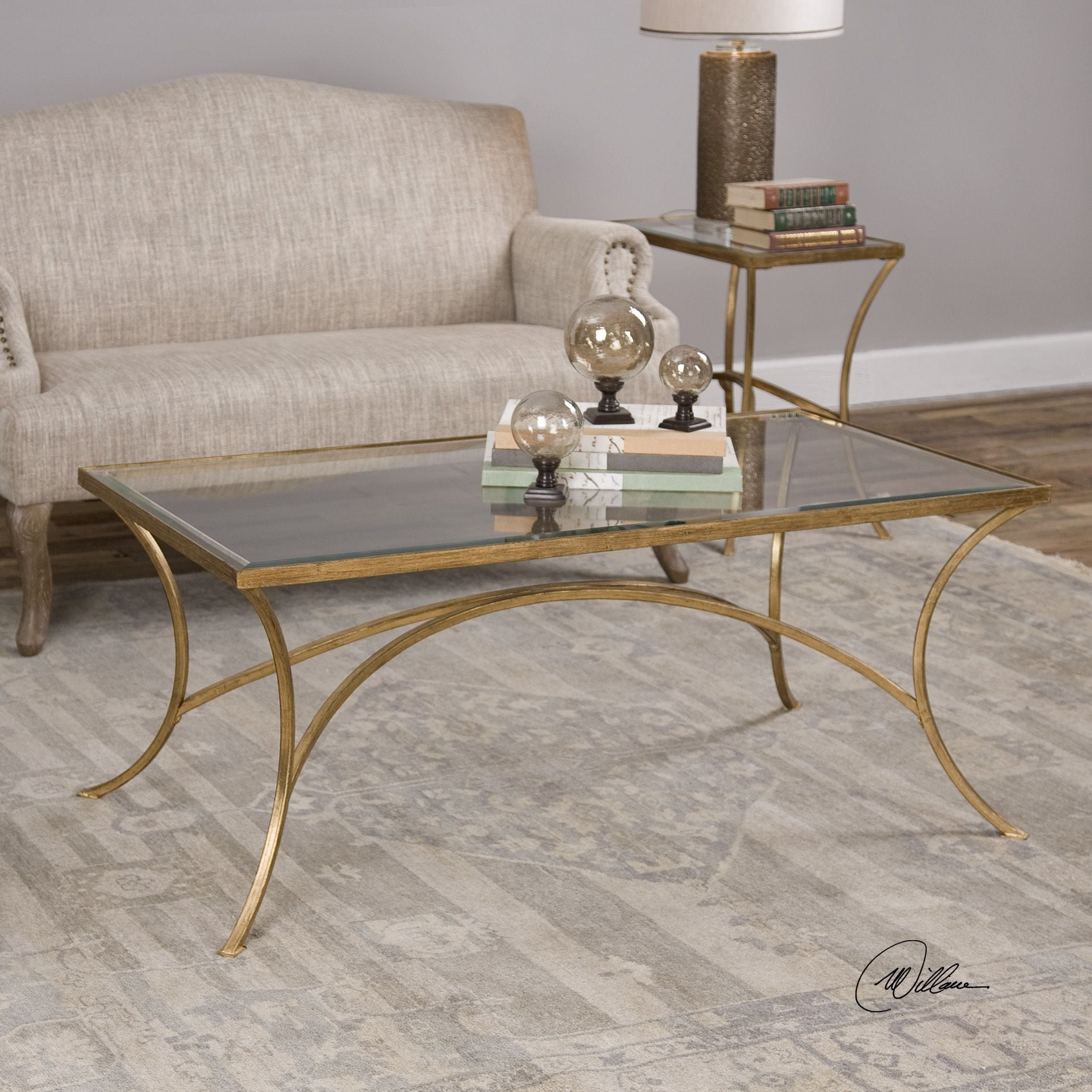 Uttermost Alayna Gold Coffee Table   Free Shipping Today   Overstock    20352654
