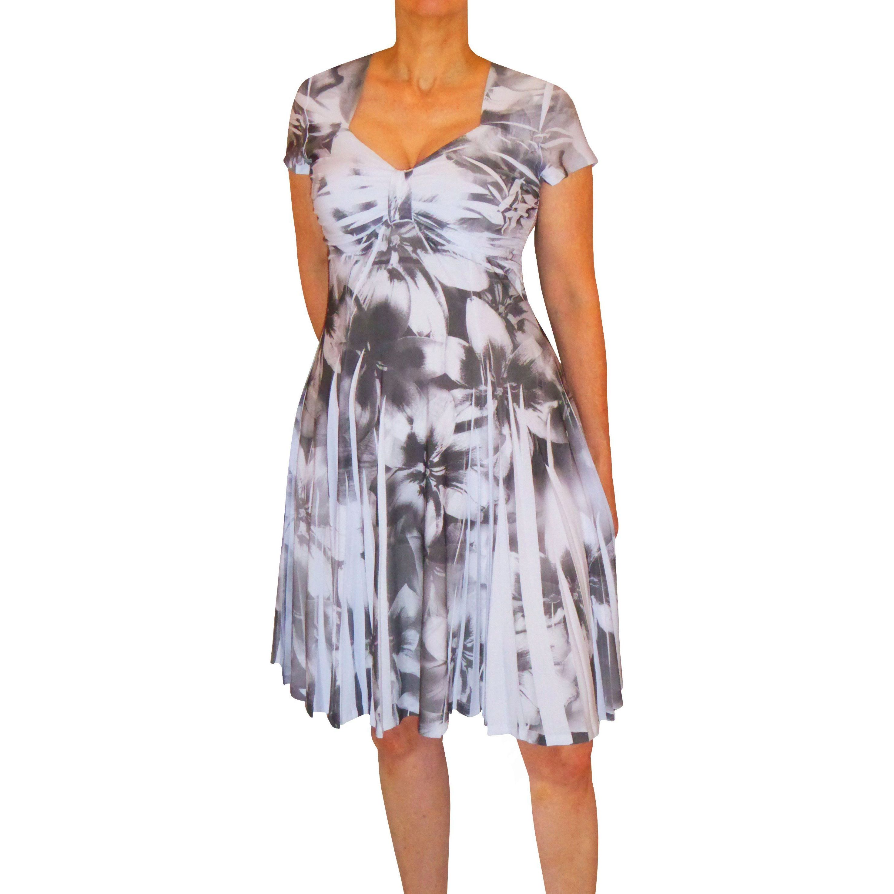 d4d26099cc2 Shop Funfash Women s Heather Grey White Plus-size Slimming Cocktail Dress -  Free Shipping Today - Overstock - 13723853