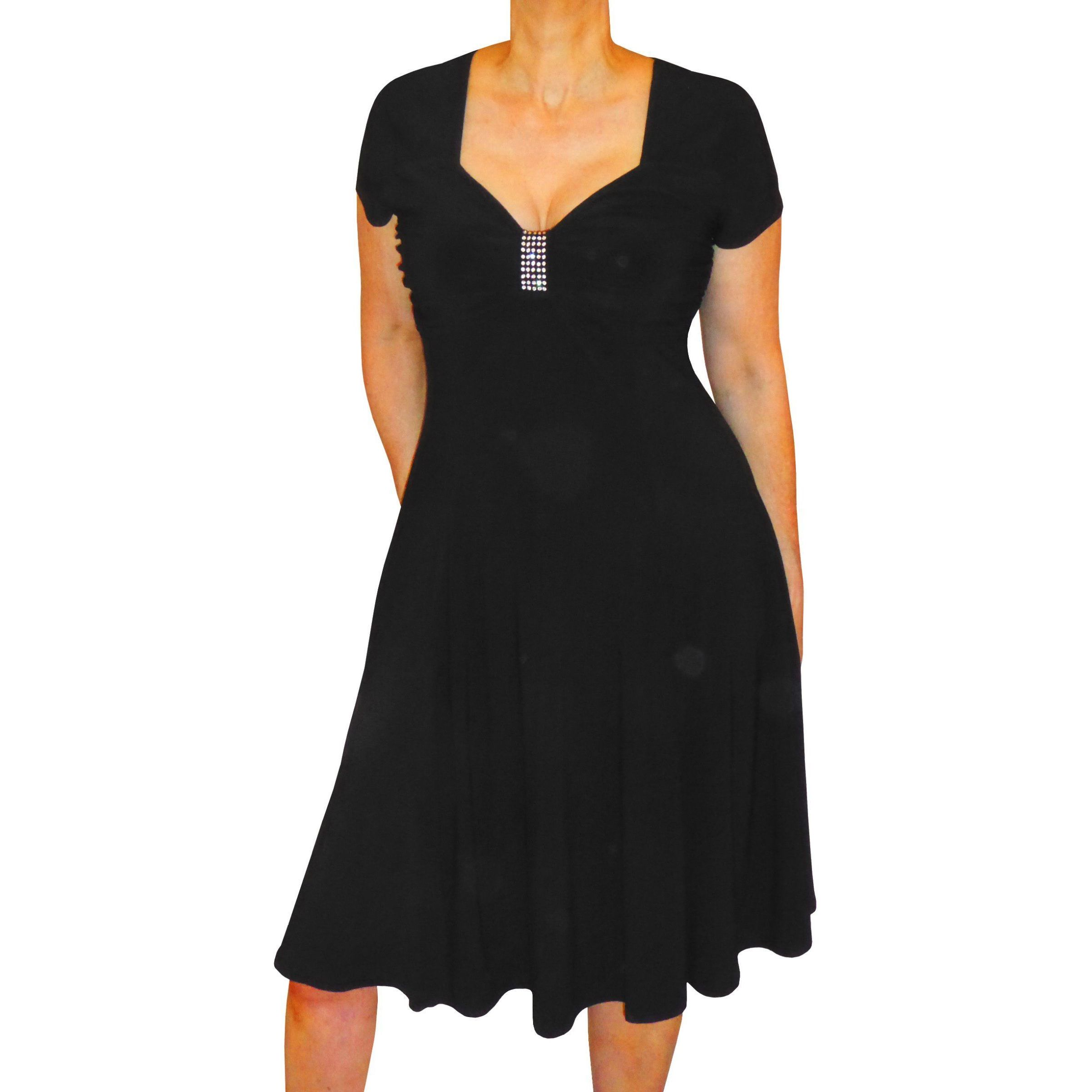 aedb00aef2 Shop Funfash Women s Black Polyester and Spandex Plus-size Slimming Empire  Waist Cocktail Dress - Free Shipping Today - Overstock - 13723874