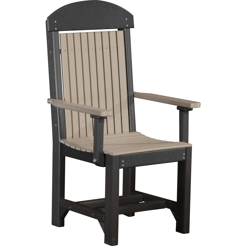 Set Of 2 Poly Outdoor High Back Dining Height Captain Chairs Free Shipping Today 13730457
