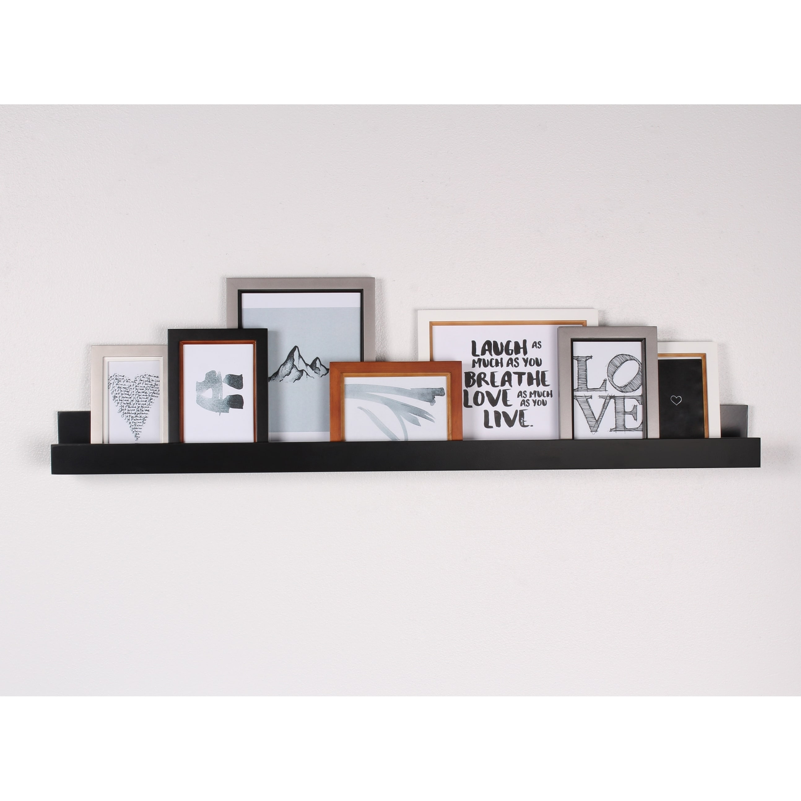Clay Alder Home Bear Solid Colored Wood Modern Floating Wall Shelf