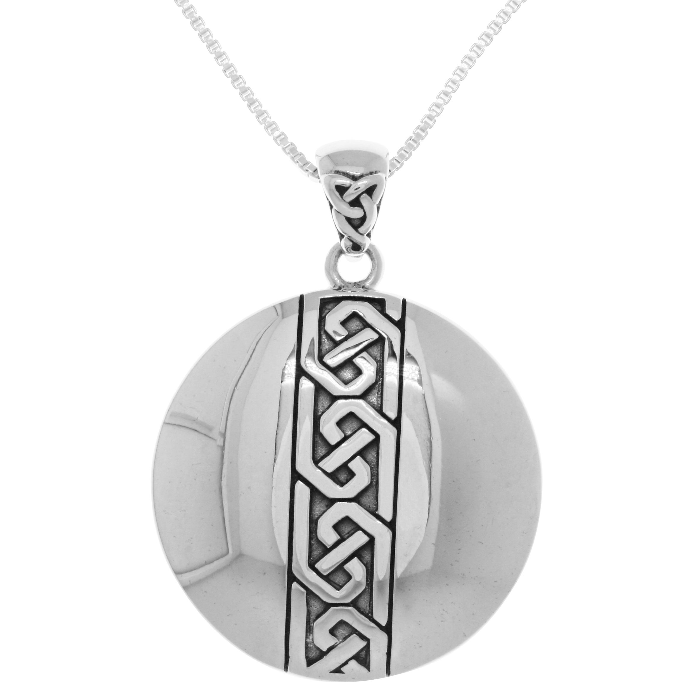 montana oval silversmiths medallion necklace pendant tracery filigree
