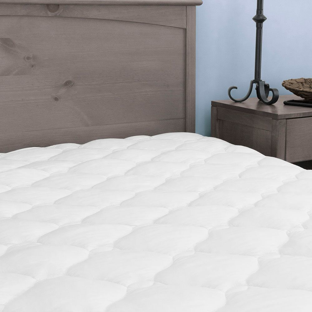Kotter Home Five Star Plush Hotel Mattress Pad Topper With Fitted Skirt    Free Shipping Today   Overstock   20397113