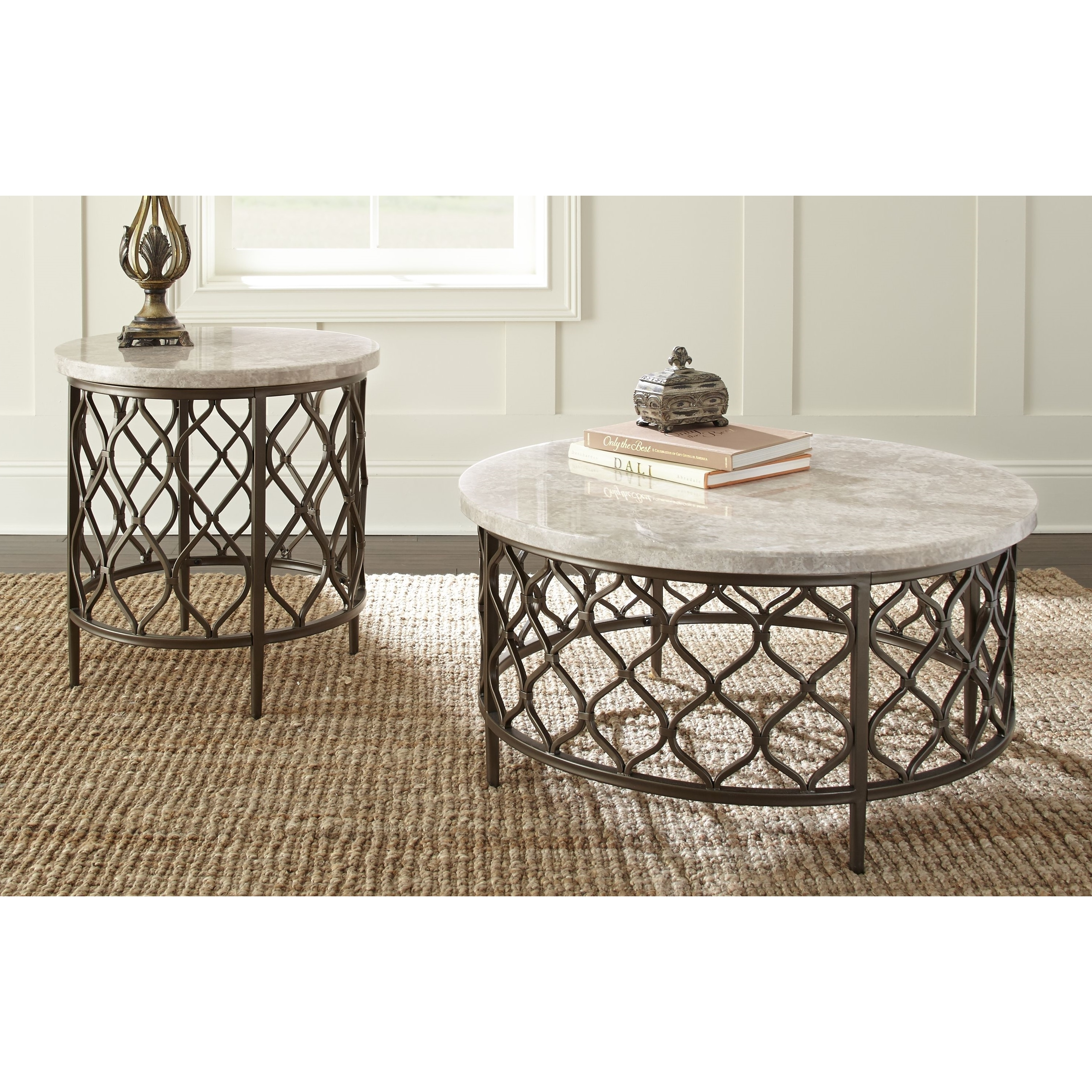 Rockvale Stone Top Round End Table by Greyson Living - Free Shipping ...