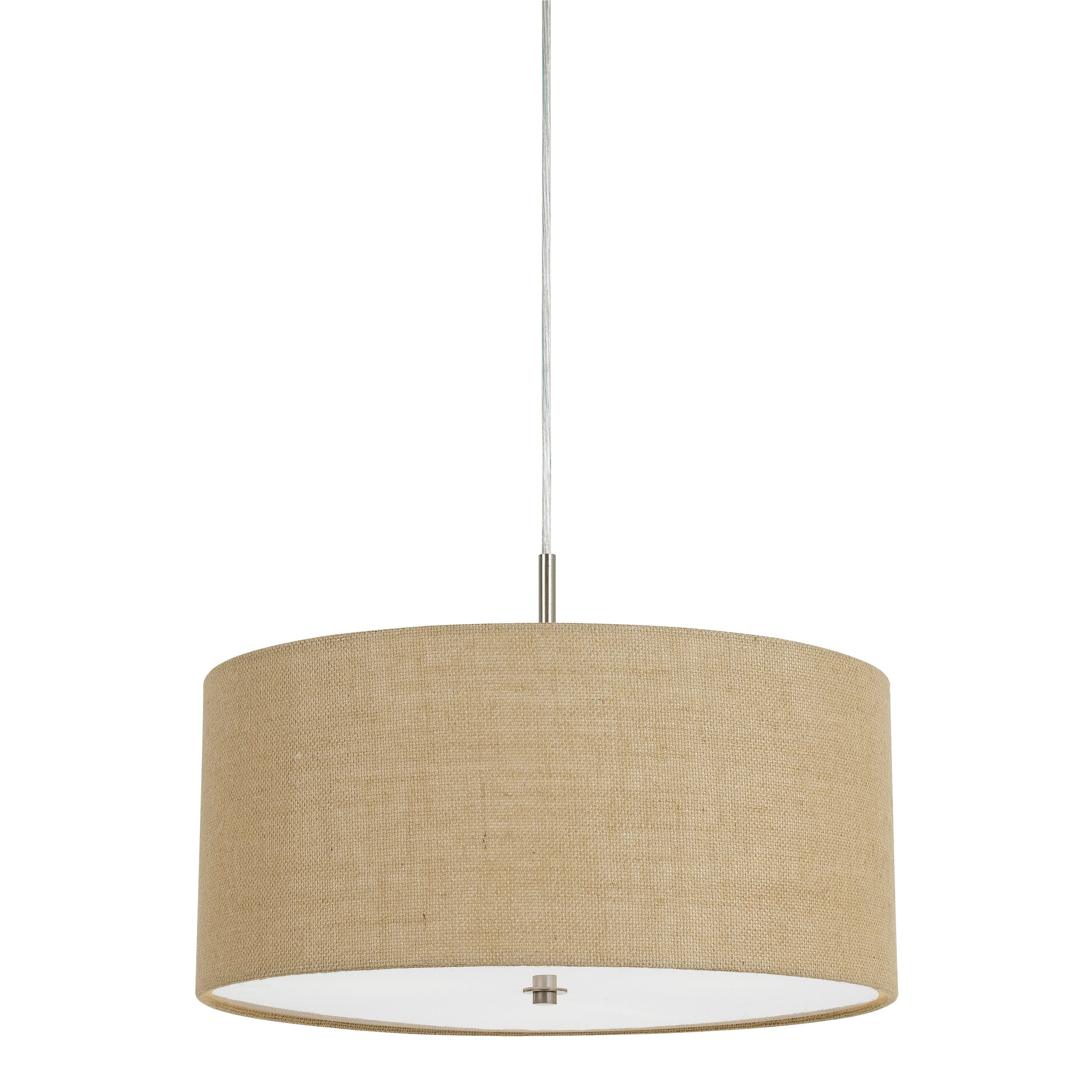 Drum pendant lighting fixtures Stainless Shop Addison Iron 60watt 3light Drum Pendant Light Fixture With Beige Burlap Shade Free Shipping Today Overstockcom 13742637 Overstockcom Shop Addison Iron 60watt 3light Drum Pendant Light Fixture With