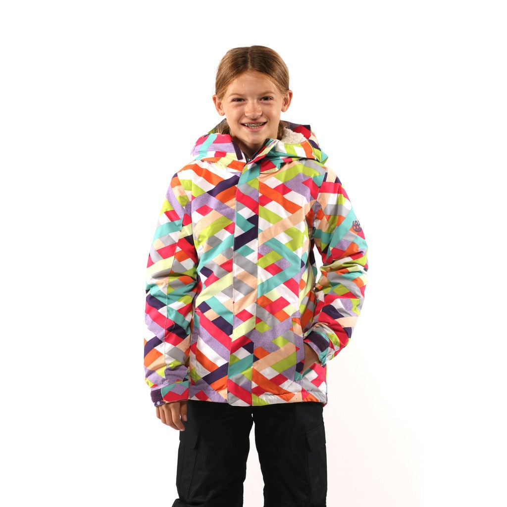 be5d91ebb Shop 686 Girls Grey Flora Insulated Jacket - Free Shipping Today ...