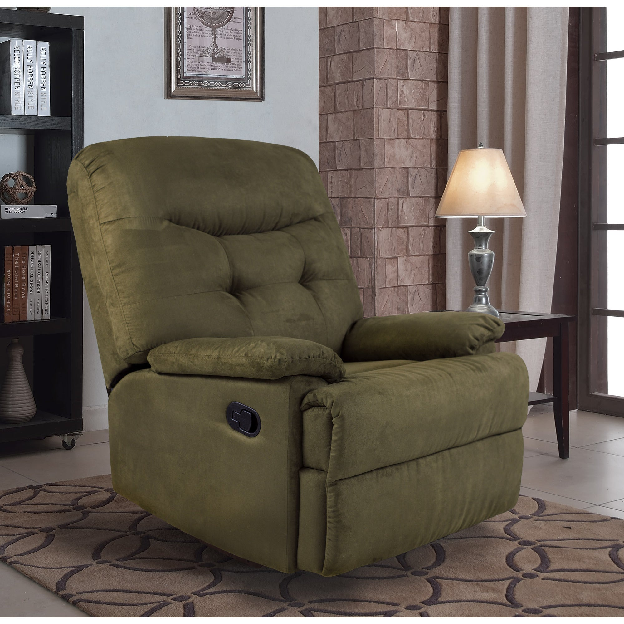 Nice Shop Big Jack Microfiber Recliner Chair, 7PM Collection By Ocean Bridge    Free Shipping Today   Overstock.com   13743116