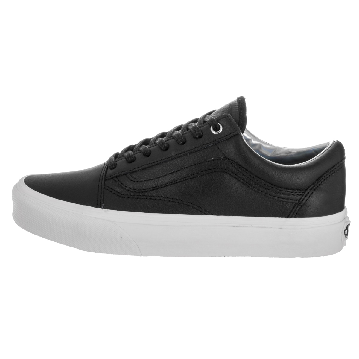 ca1b694f41bb60 Shop Vans Unisex Old Skool Hologram Black Leather Skate Shoes - Free  Shipping Today - Overstock - 13746930