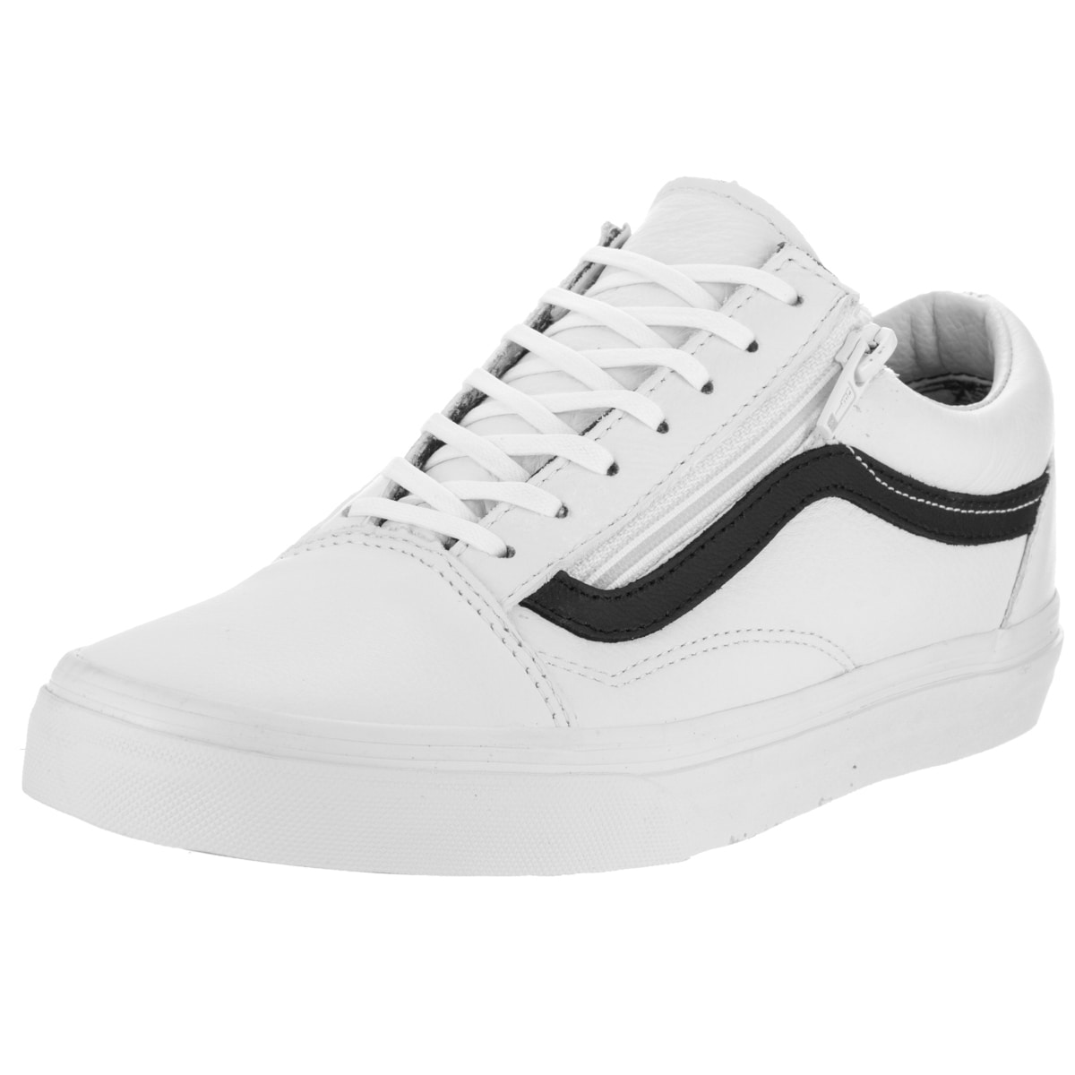 d8fa0980929 Shop Vans Unisex Old Skool Zip White and Black Skate Shoe - Free Shipping  Today - Overstock.com - 13746931