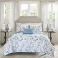 Madison Park Essentials Lesley Blue 4 Piece Coverlet Set