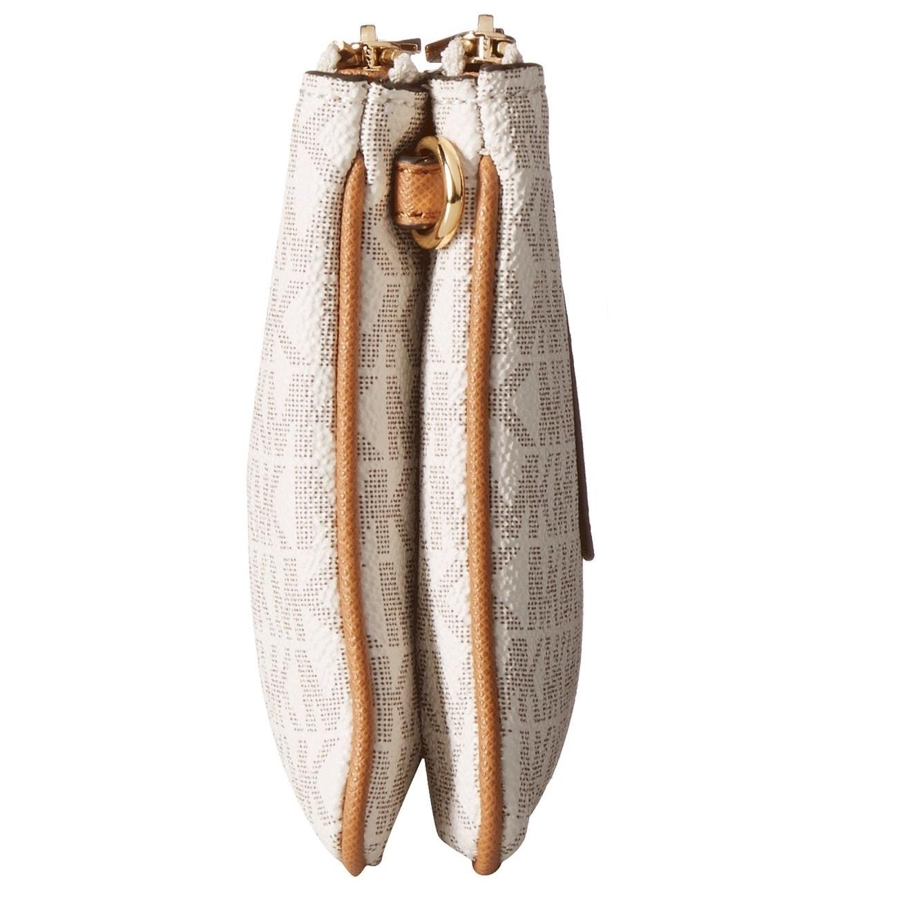81e502fe583e Shop Michael Kors Large Double Zip Vanilla Acorn Wristlet with Pocket -  Free Shipping Today - Overstock - 13748849