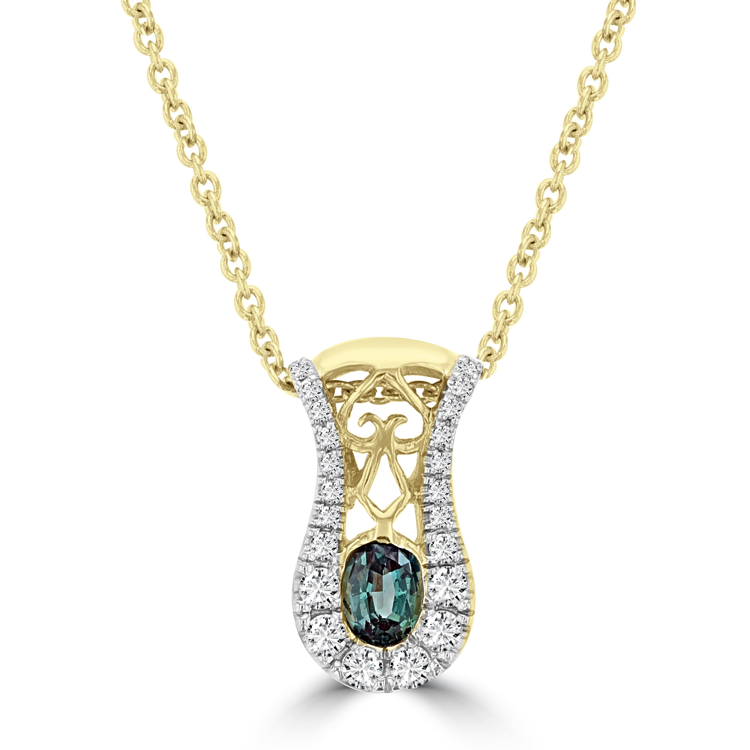 alexandrite and color diamond changing sterling faceted pendant silver necklace necklaces
