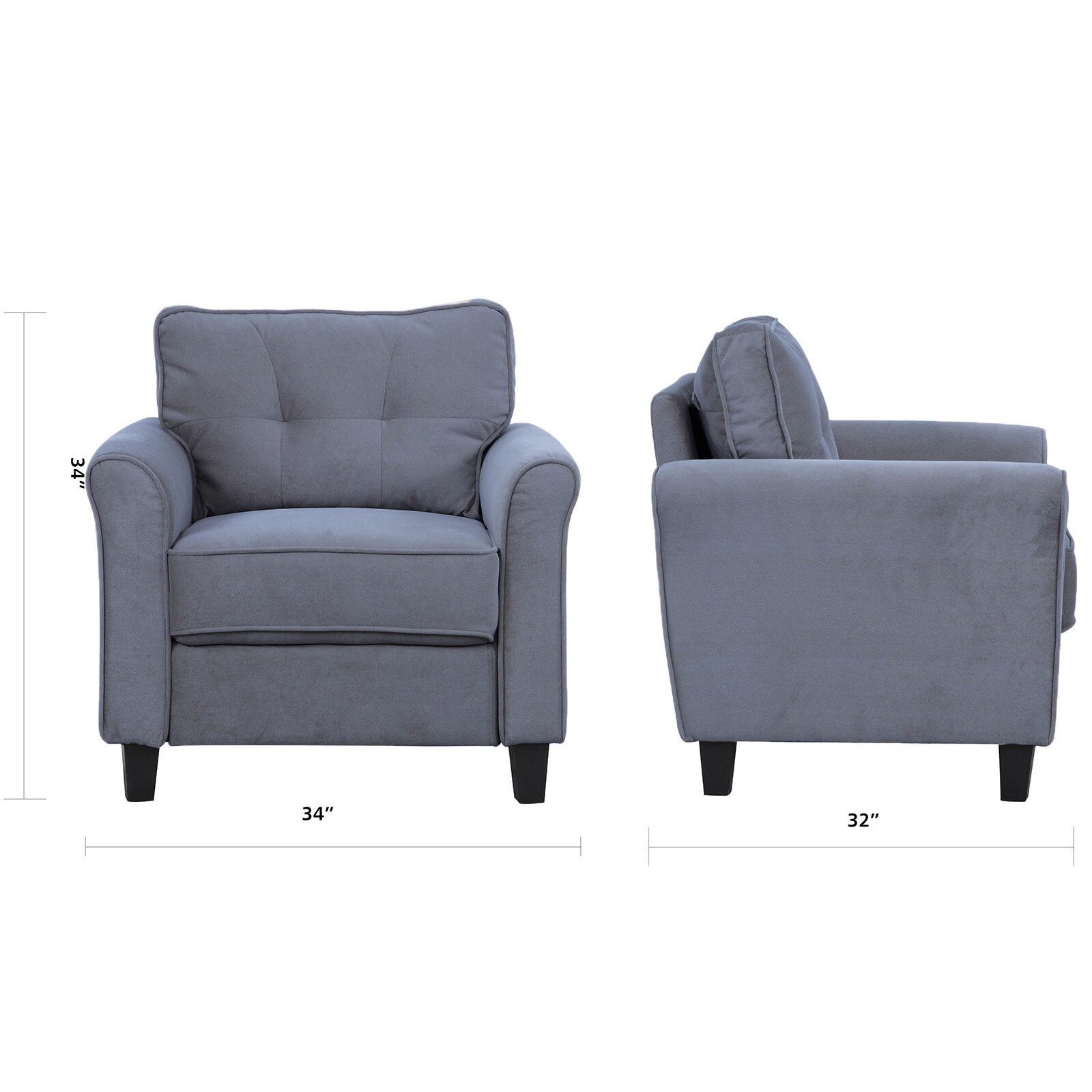Shop Classic Ultra Comfortable Linen Fabric Living Room Accent Chair - Free Shipping Today - Overstock.com - 13767967  sc 1 st  Overstock.com & Shop Classic Ultra Comfortable Linen Fabric Living Room Accent Chair ...