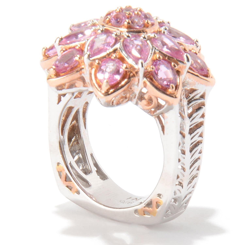 Shop Michael Valitutti Palladium Silver Multi Shape Pink Sapphire