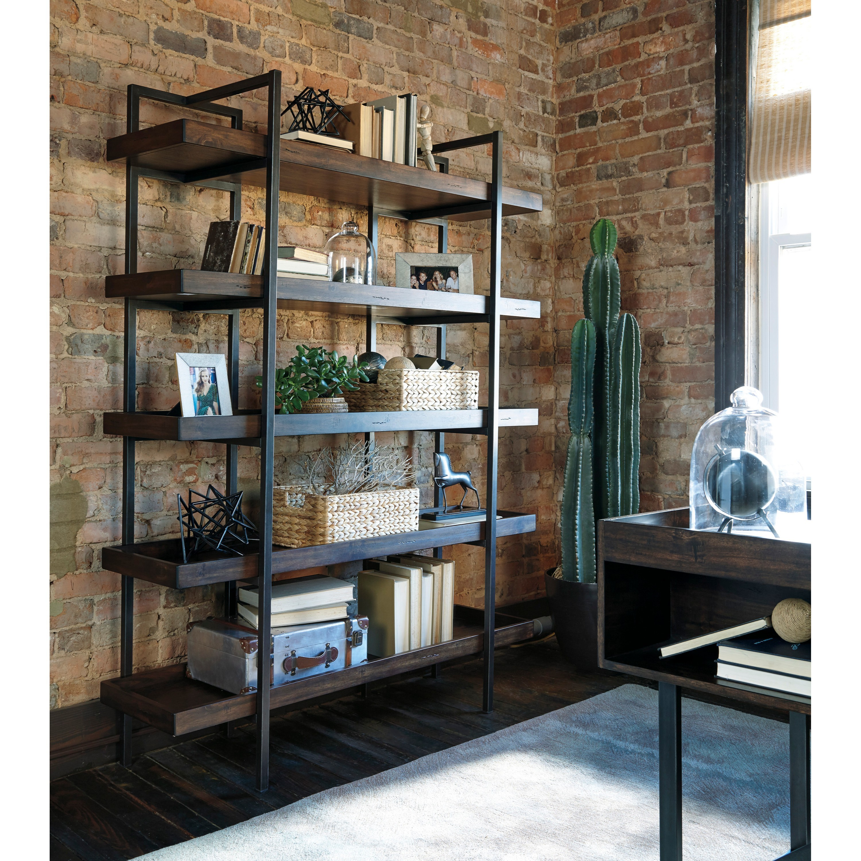 view ashley furniture office scott bookcase carlyle s home bookcases gallery