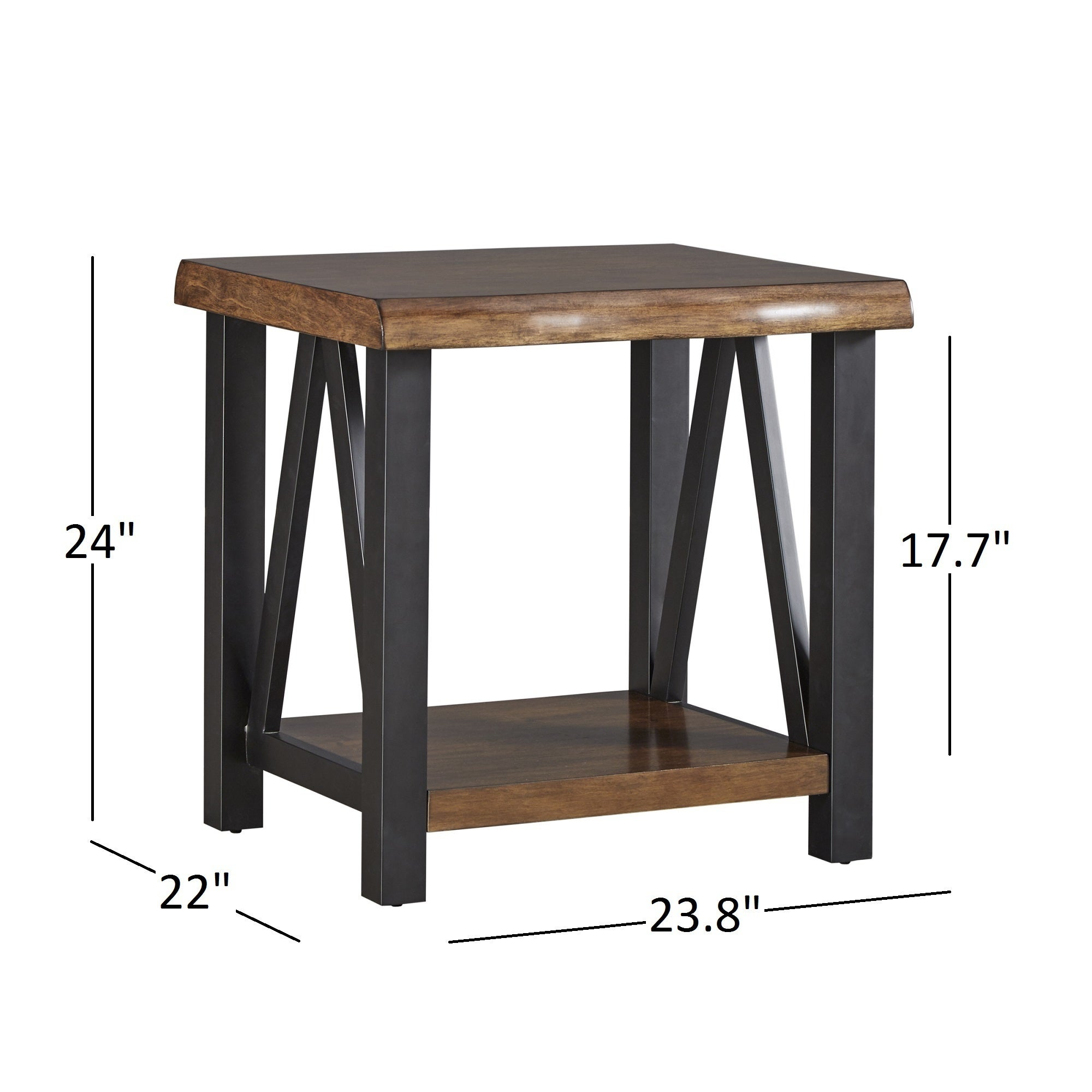 Shop Banyan Live Edge Wood And Metal Accent Tables By INSPIRE Q Artisan    On Sale   Free Shipping Today   Overstock.com   13768897
