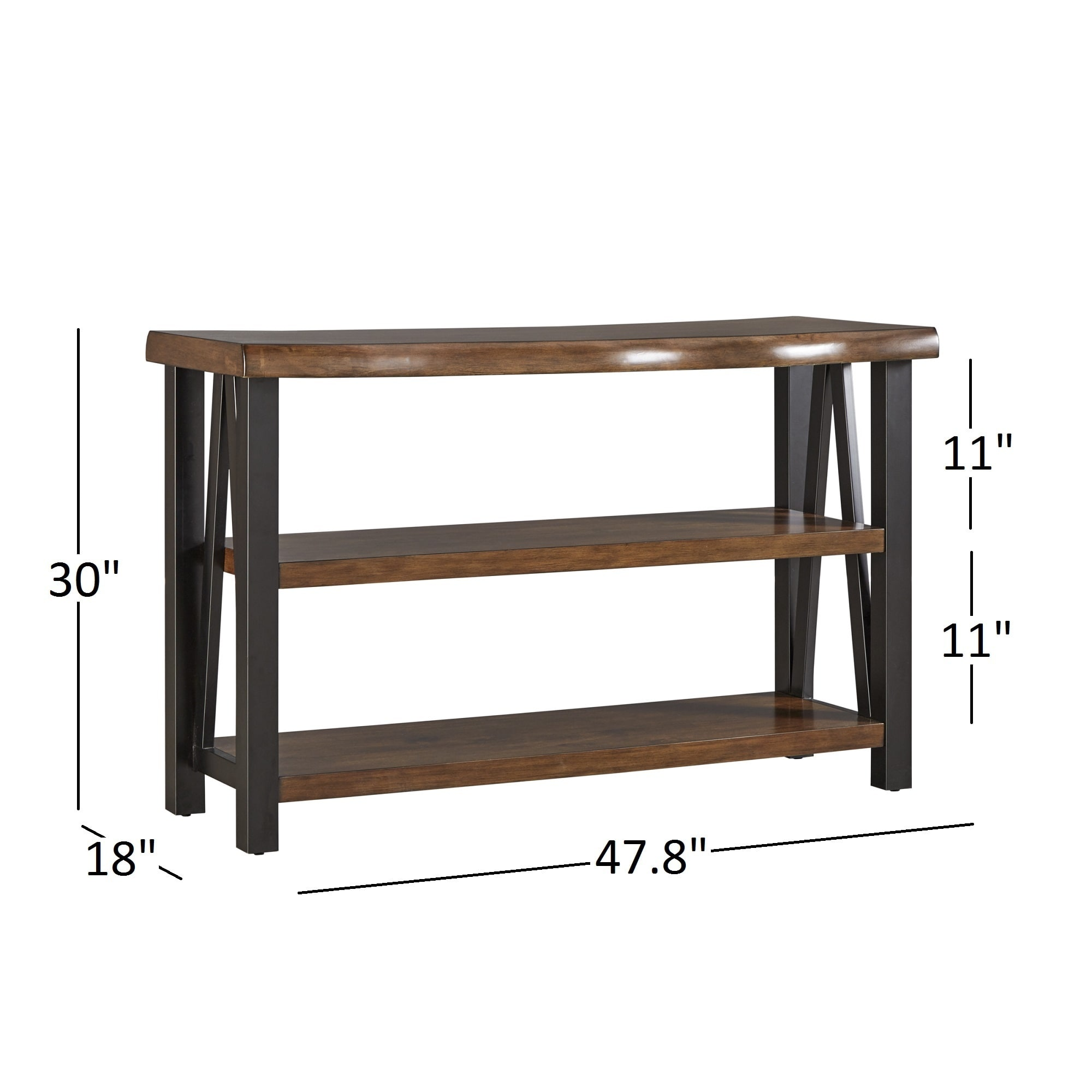 Shop Banyan Live Edge Wood And Metal Console Sofa Table Bookshelf By  INSPIRE Q Artisan   Free Shipping Today   Overstock.com   13768910
