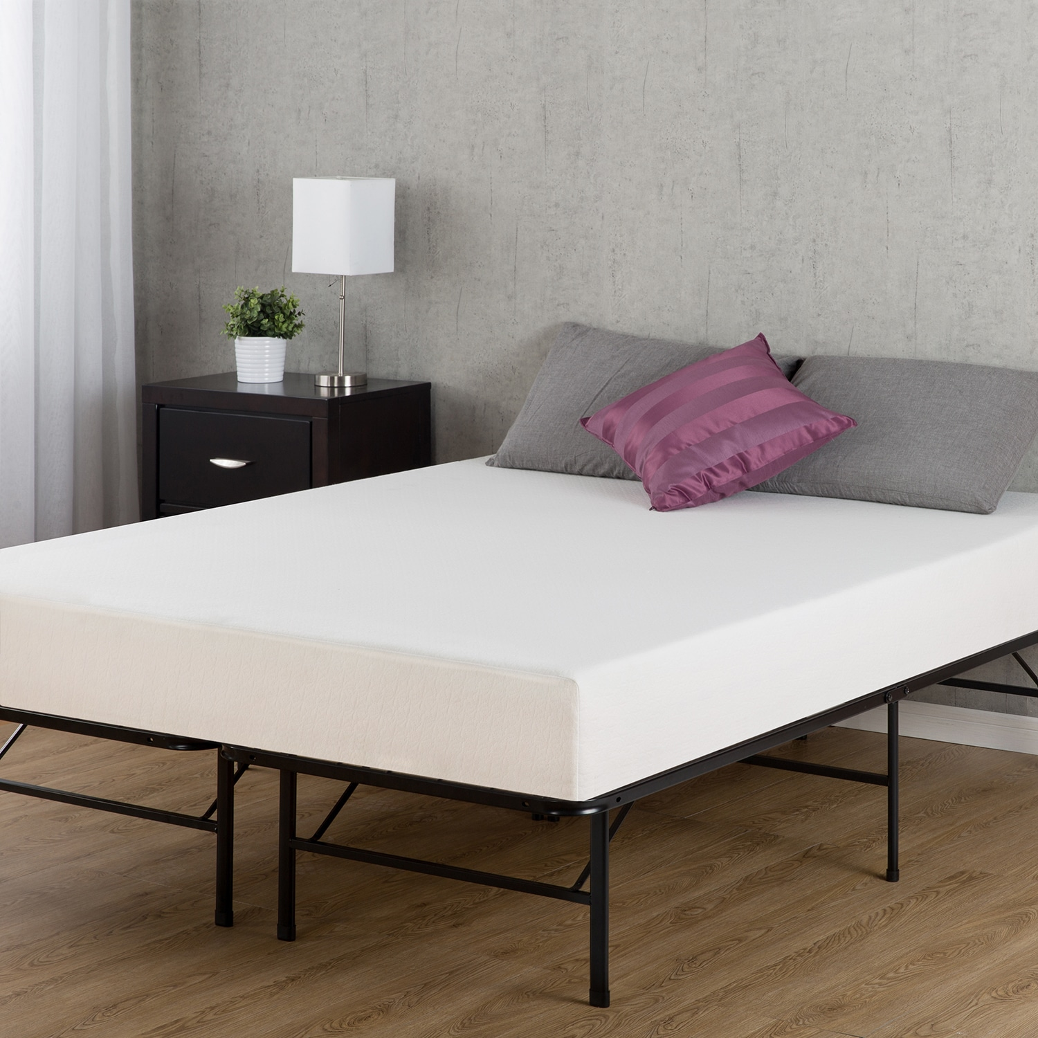 95d908d650db Shop Priage by Zinus 6 inch Full-size Memory Foam Mattress and SmartBase  Foundation Set - Free Shipping Today - Overstock - 13769371