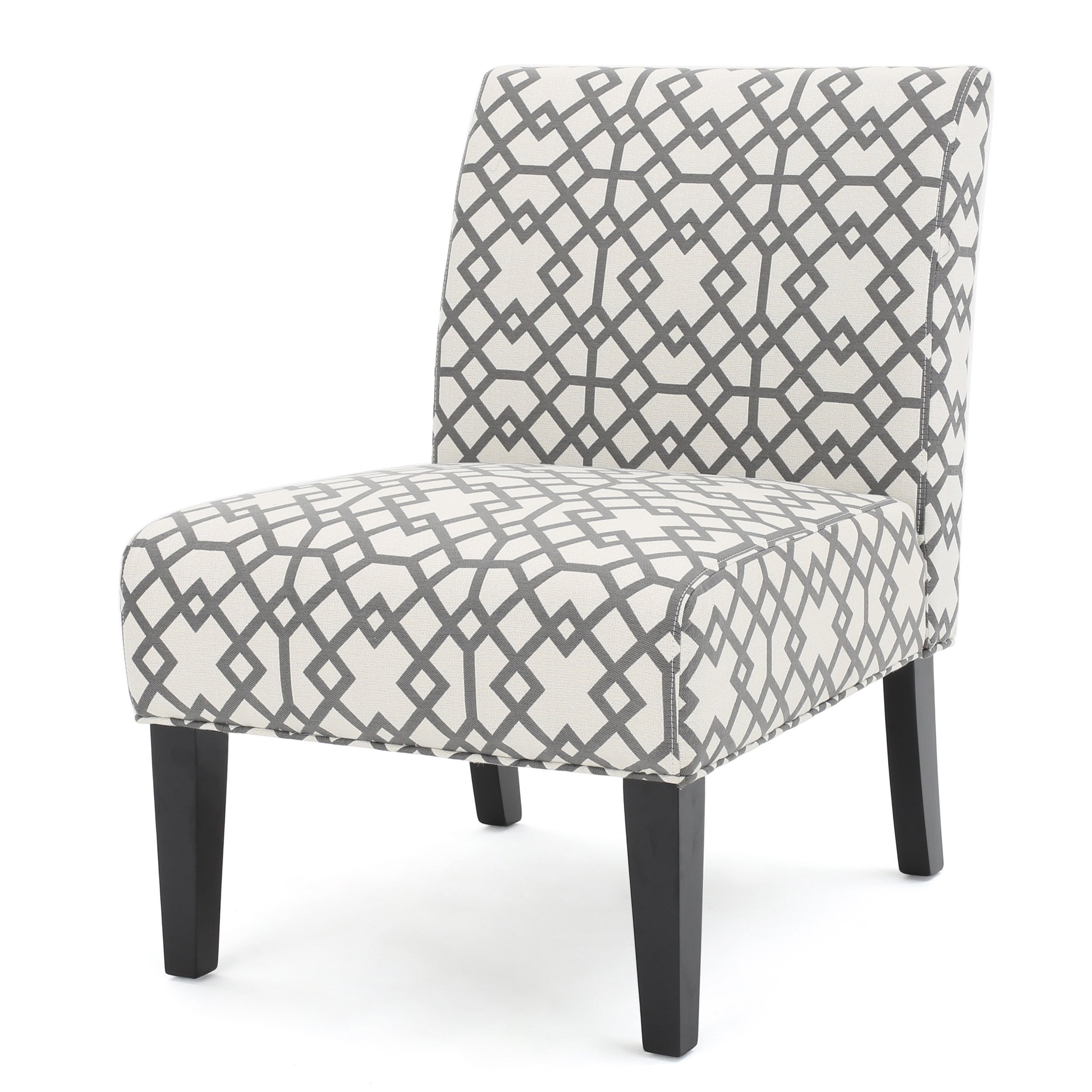 Exceptionnel Shop Kassi Grey Geometric Fabric Accent Slipper Chair By Christopher Knight  Home   Free Shipping Today   Overstock.com   13769764