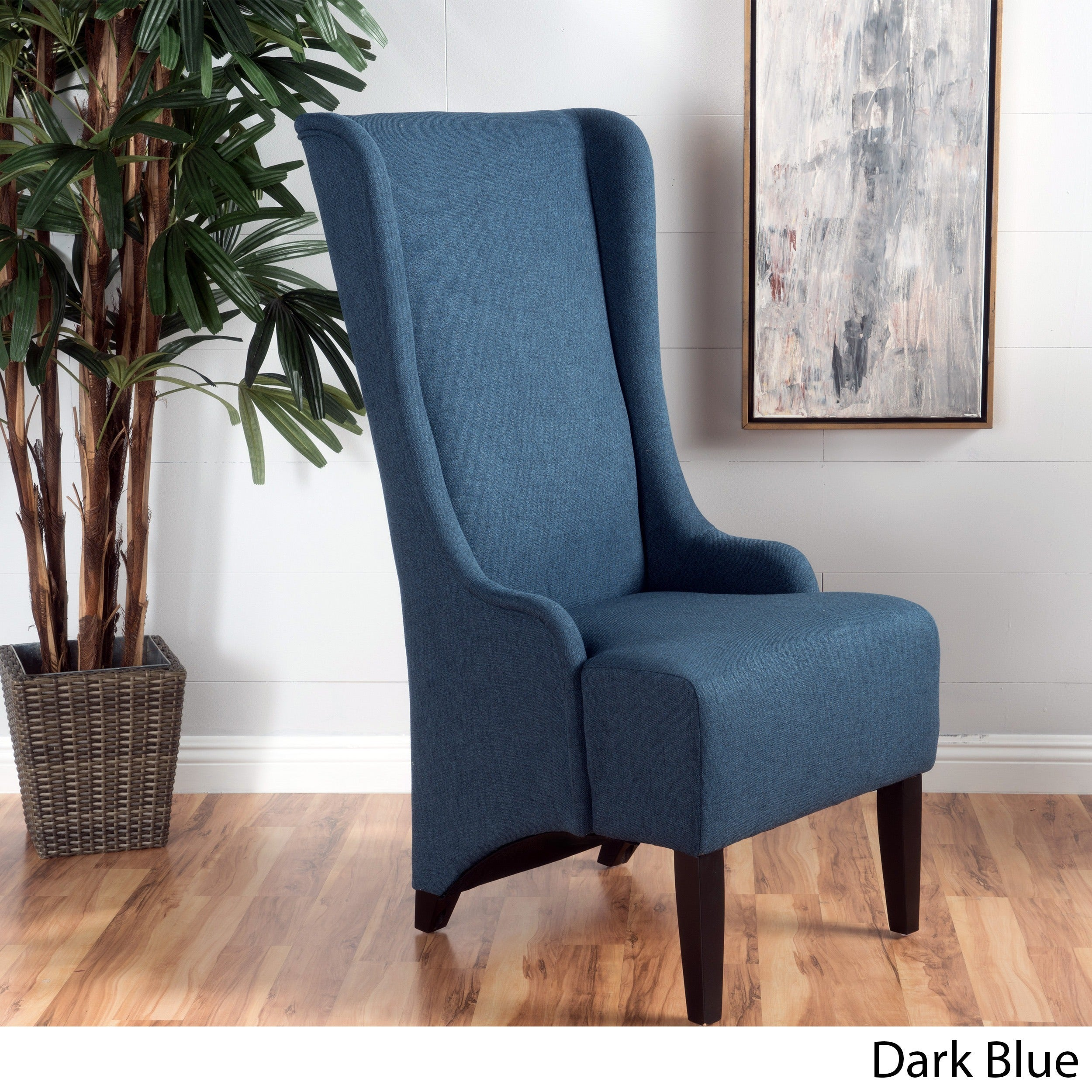 Shop Callie High Back Fabric Dining Chair by Christopher Knight Home ...