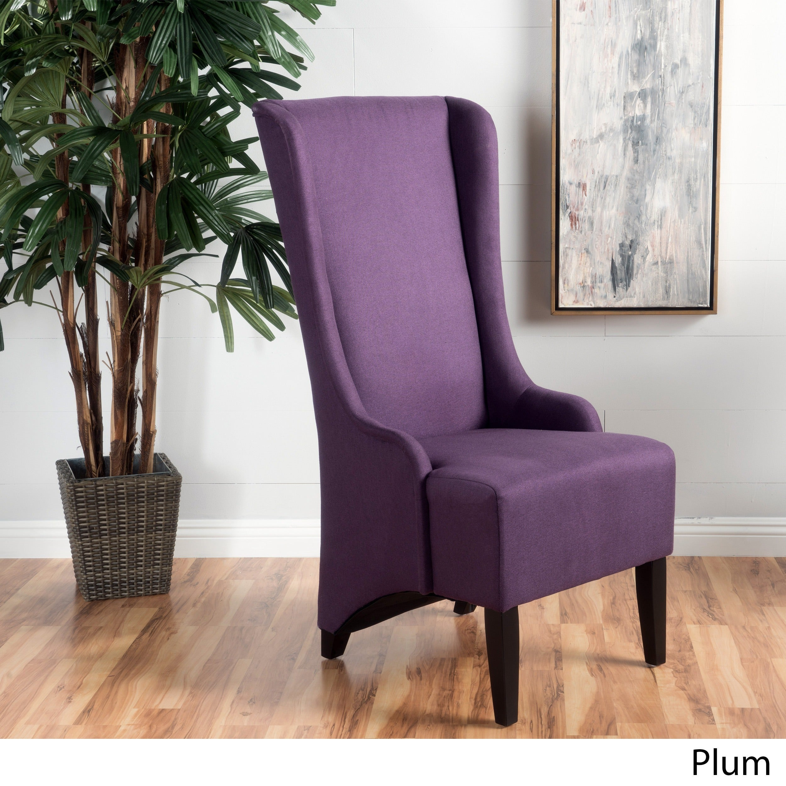 Shop Callie High Back Fabric Dining Chair By Christopher Knight Home   On  Sale   Free Shipping Today   Overstock.com   13770080