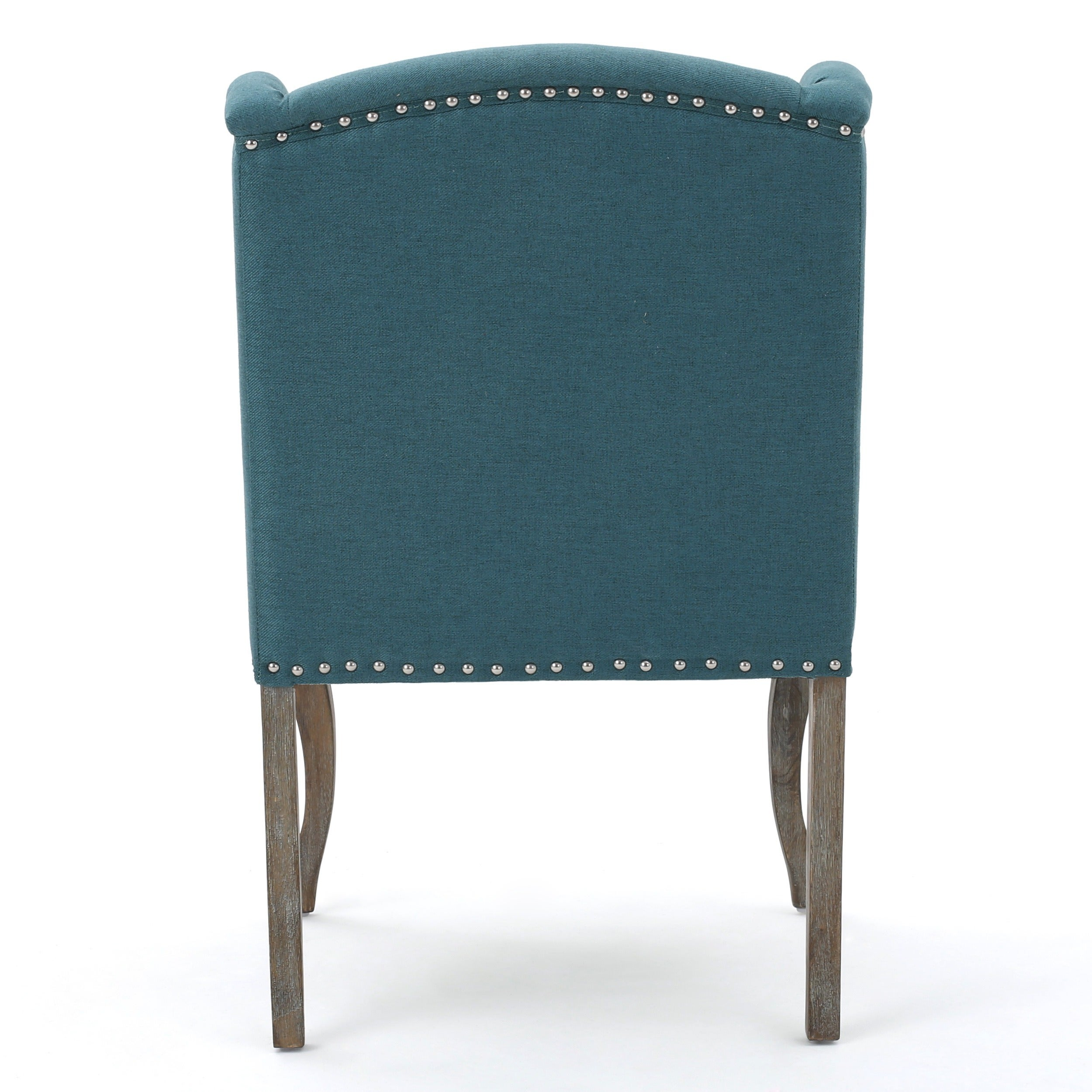 Niclas Wing Back Studded Fabric Accent Chairs (Set of 2) by ...