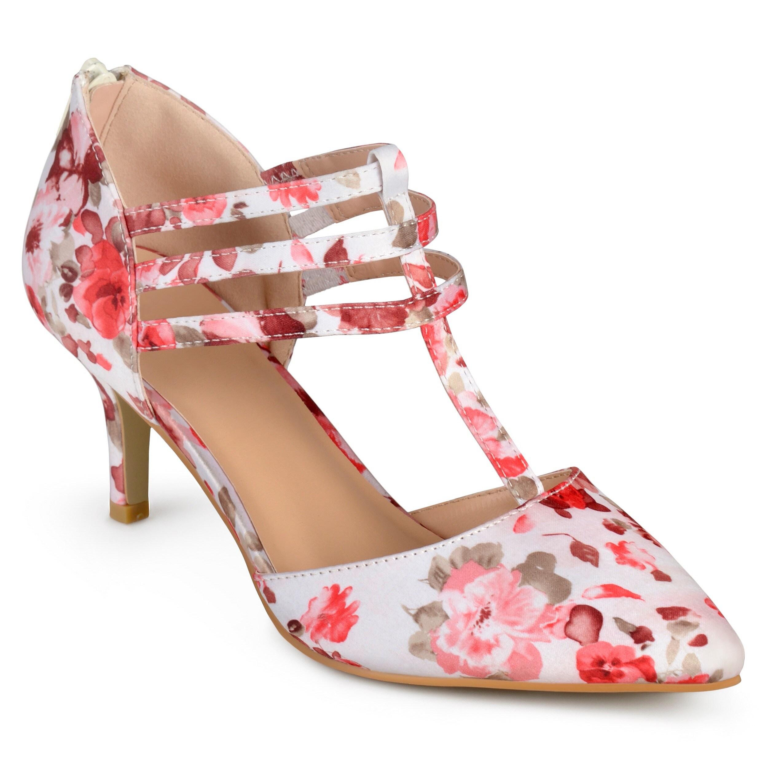 Shop Journee Collection Womens Pacey Matte T Strap High Heels