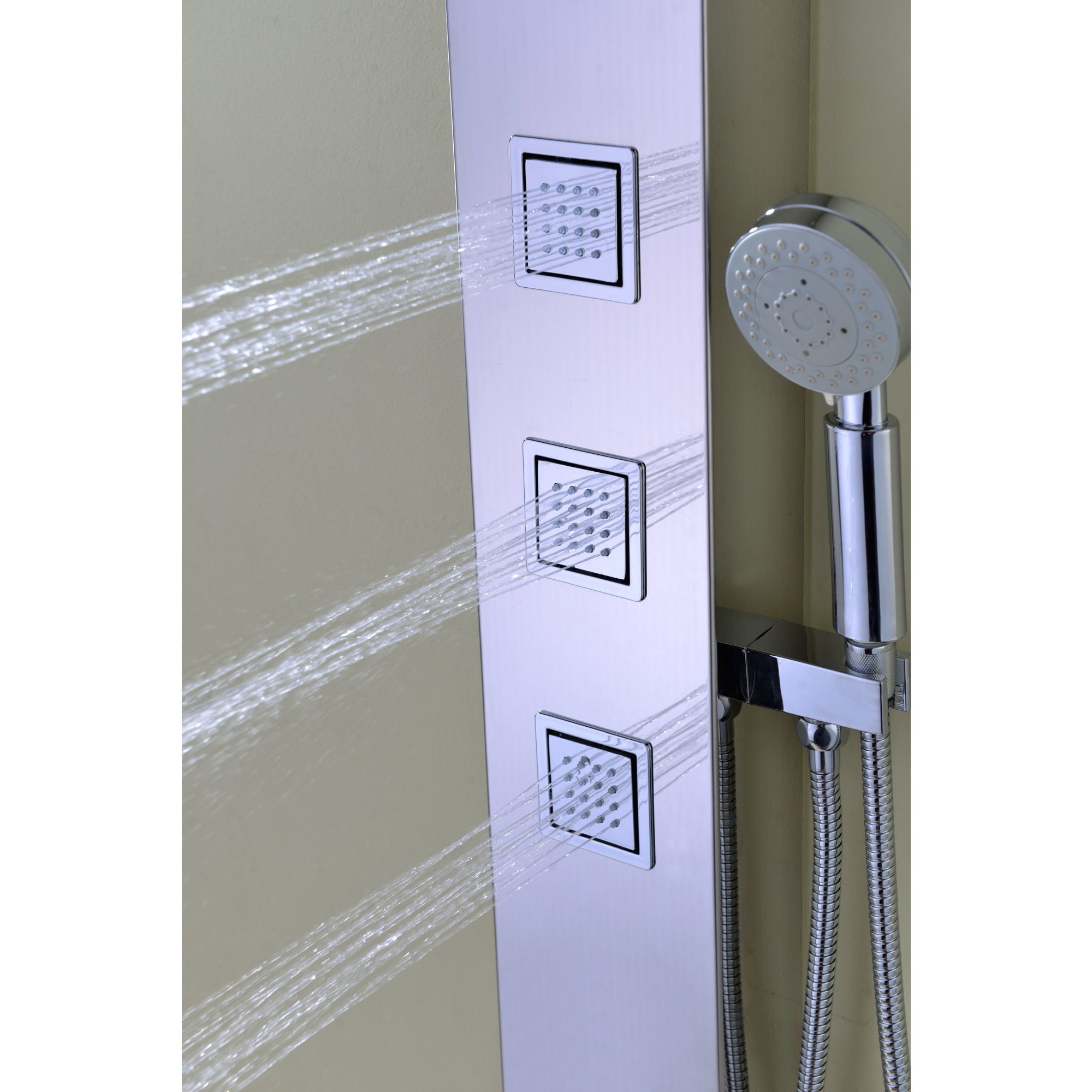 Shop ANZZI Lann 3-jetted Full Body Shower Panel System in Chrome ...