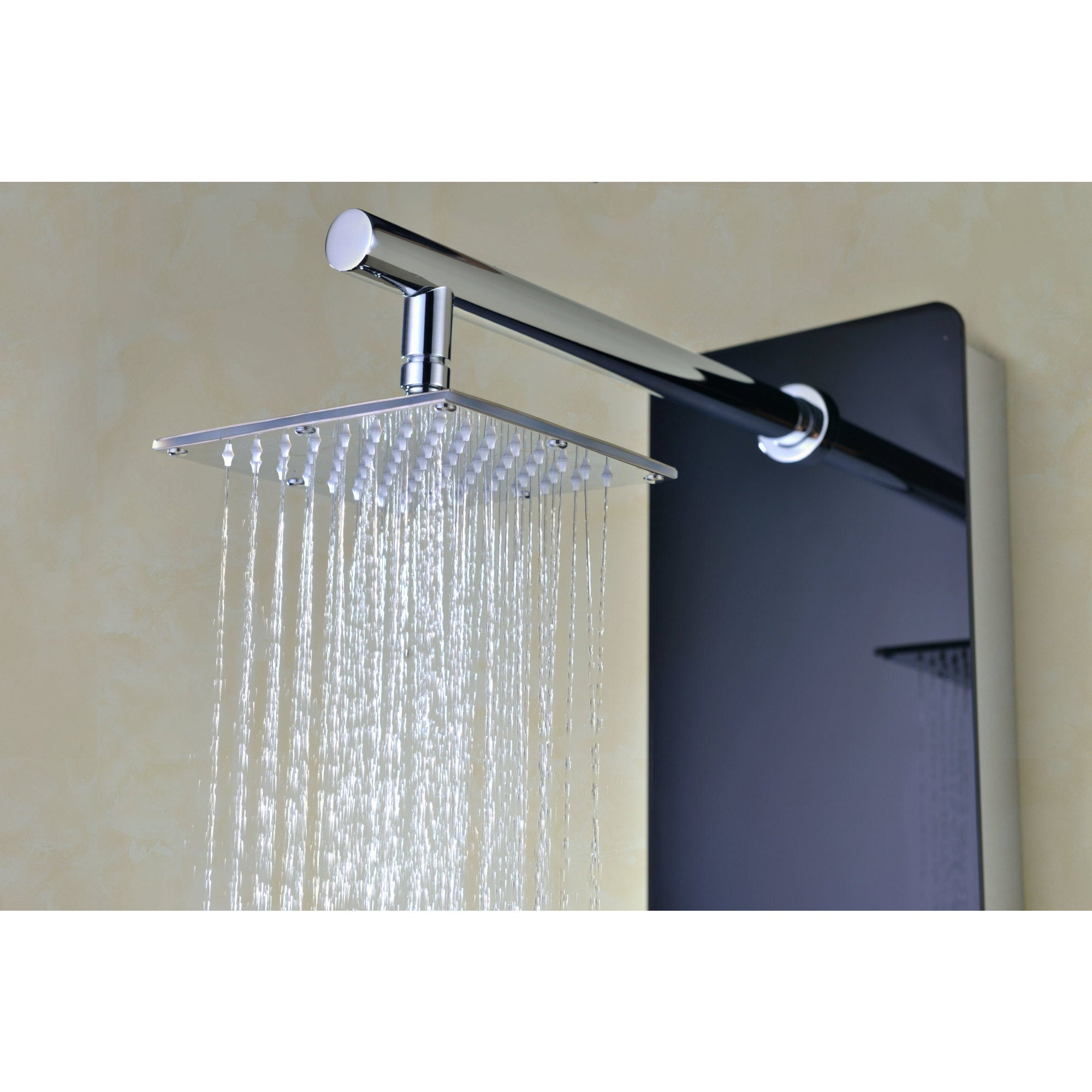 Shop ANZZI Melody 6-jetted Full Body Shower Panel System in Black ...