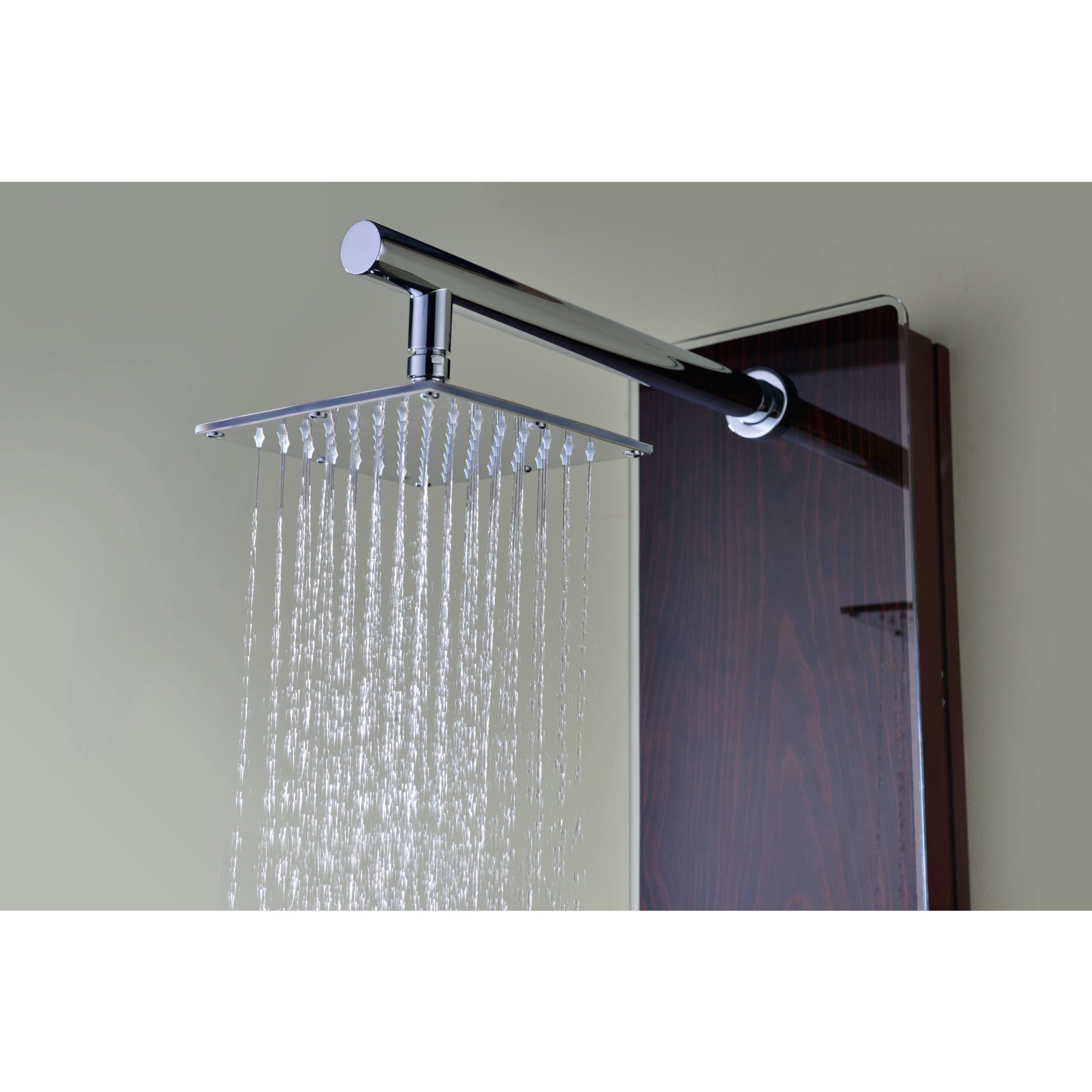 ANZZI Pure 3-jetted Full Body Shower Panel System in Mahogany Style ...