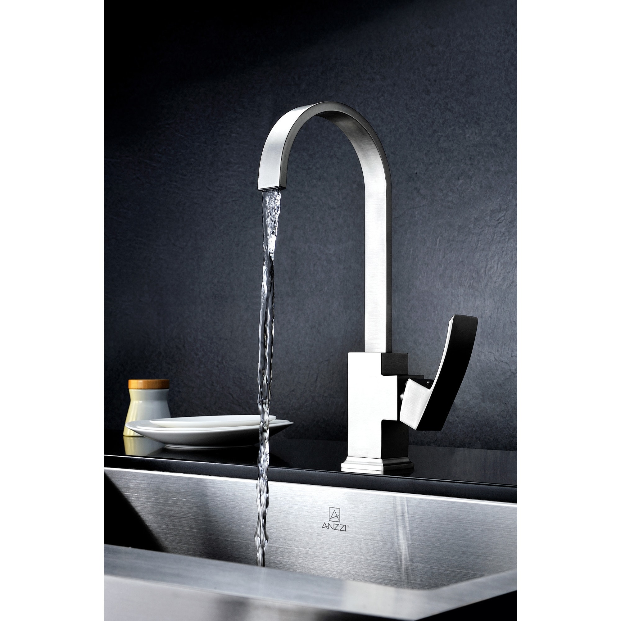 Shop ANZZI Opus Series Single-handle Standard Kitchen Faucet in ...