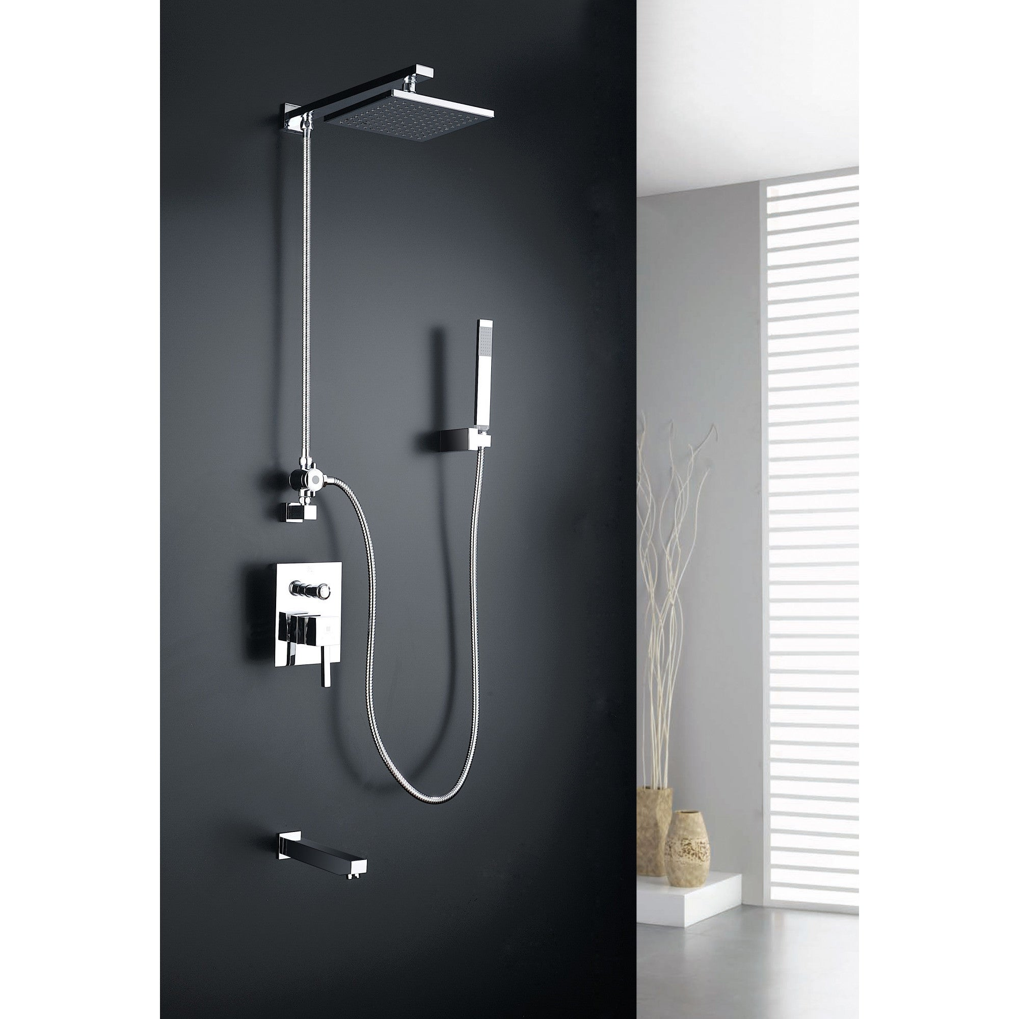 Shop ANZZI Byne 1-handle 1-spray Tub and Shower Faucet with Sprayer ...