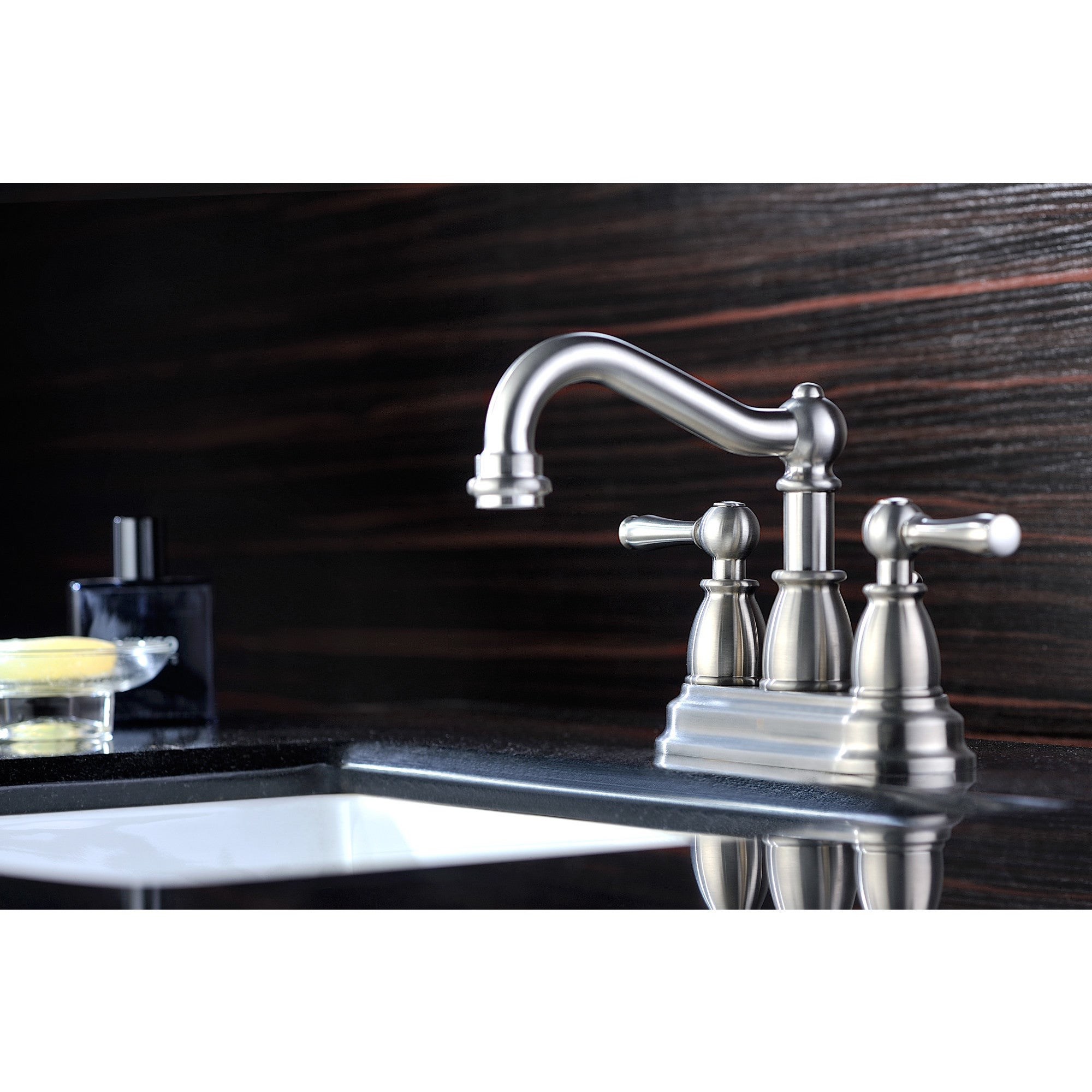 Shop ANZZI Edge 4-inch Centerset 2-handle Mid-arc Bathroom Faucet in ...