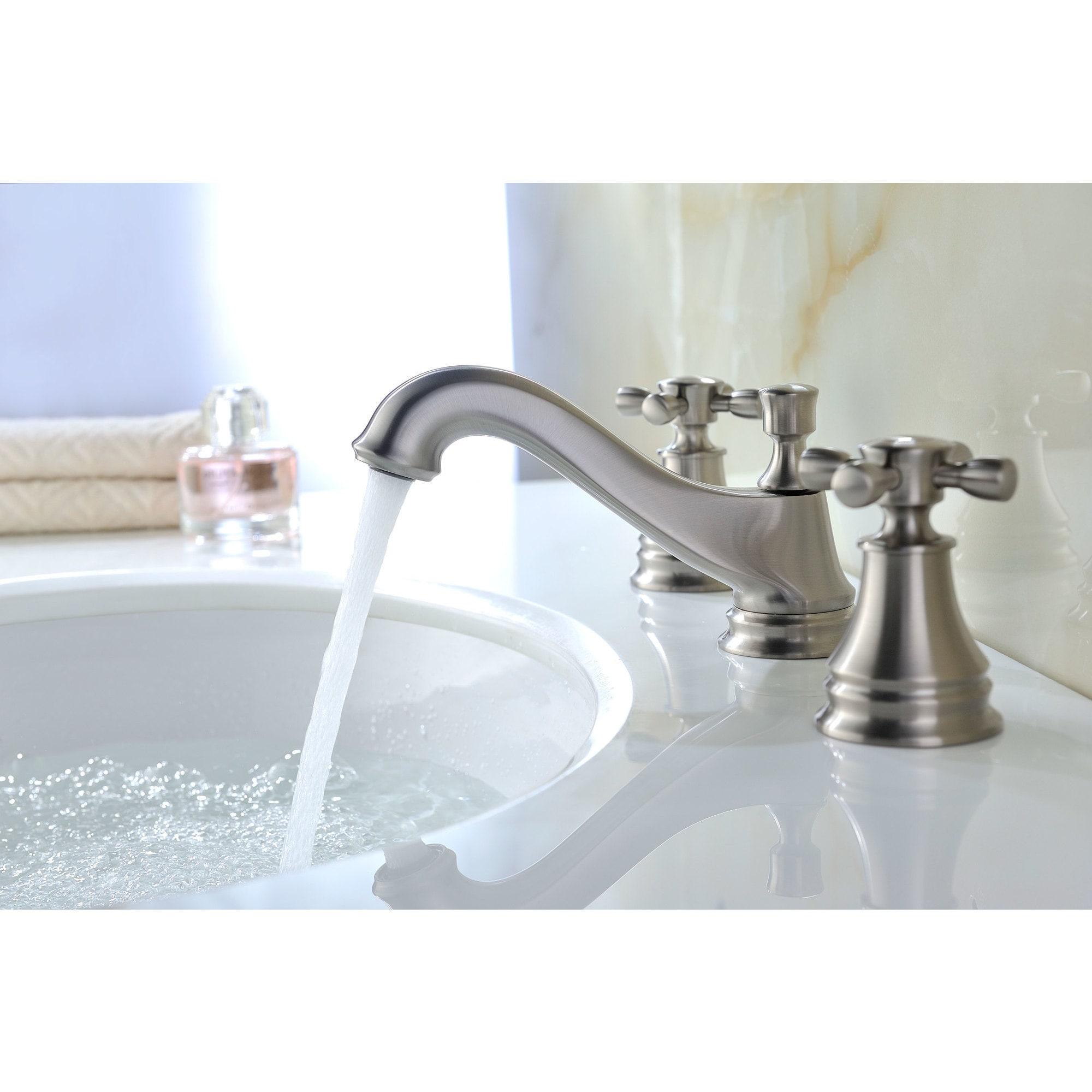 Shop ANZZI Melody Series 8-inch Widespread 2-handle Mid-arc Bathroom ...