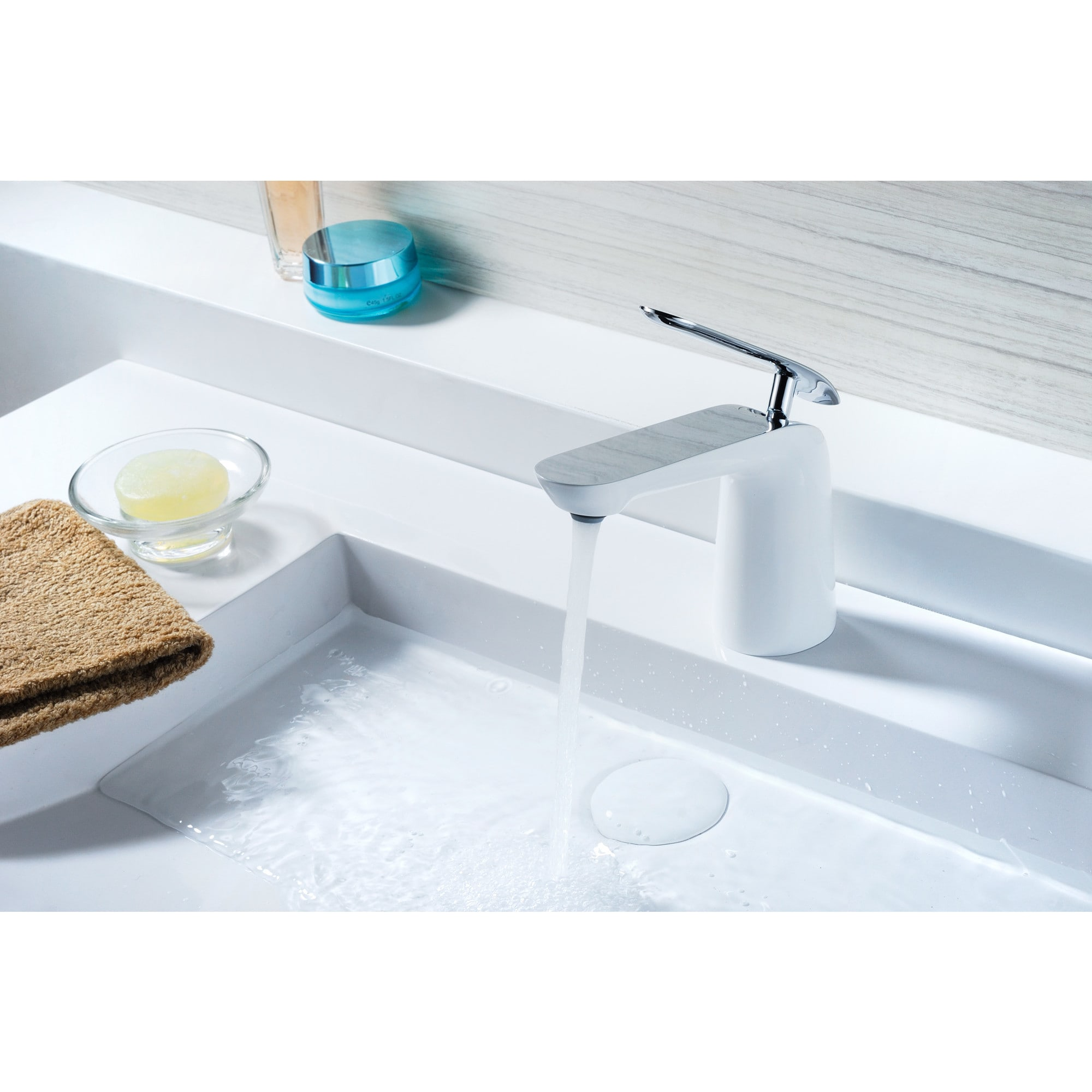 Shop ANZZI Etude Series Single Hole Single-handle Low-arc White and ...