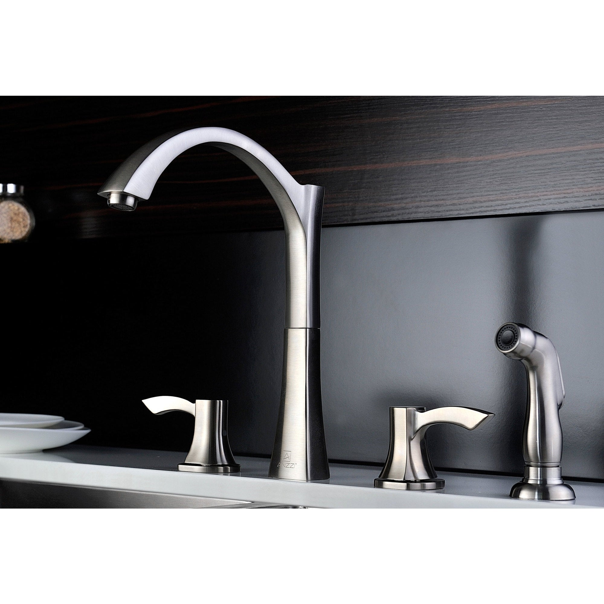 ANZZI Elysian Stainless Steel Farmhouse Kitchen Sink and Chrome ...