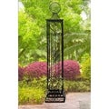 Sunjoy Norton Black Steel Garden Arbor Post