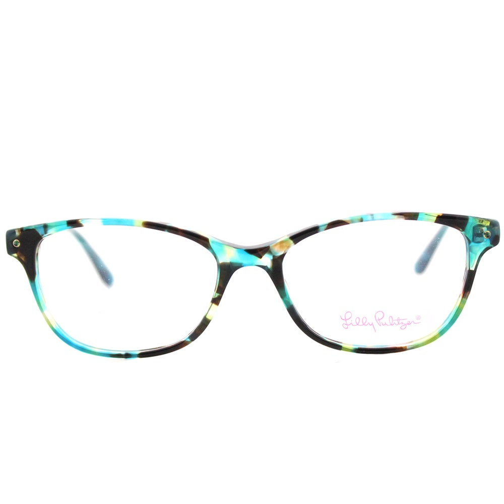 5ccce83c39 Shop Lilly Pulitzer  Brynn  Aqua Tortoise Cat-Eye Glasses (51 mm) - Free  Shipping Today - Overstock - 13784045