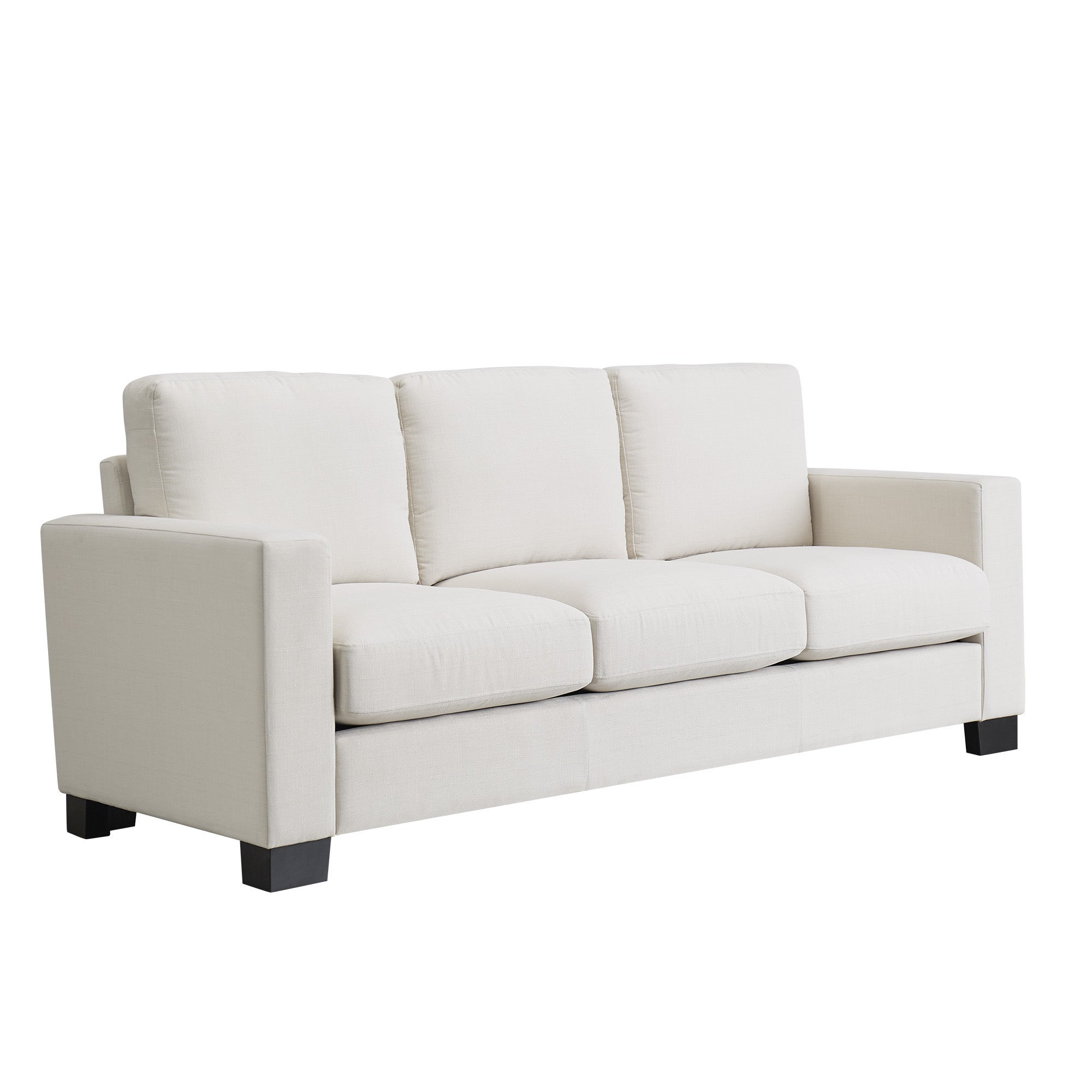 Torrington White Linen Fabric Down Filled Track Arm Sofa by iNSPIRE Q  Artisan - Free Shipping Today - Overstock.com - 20437954