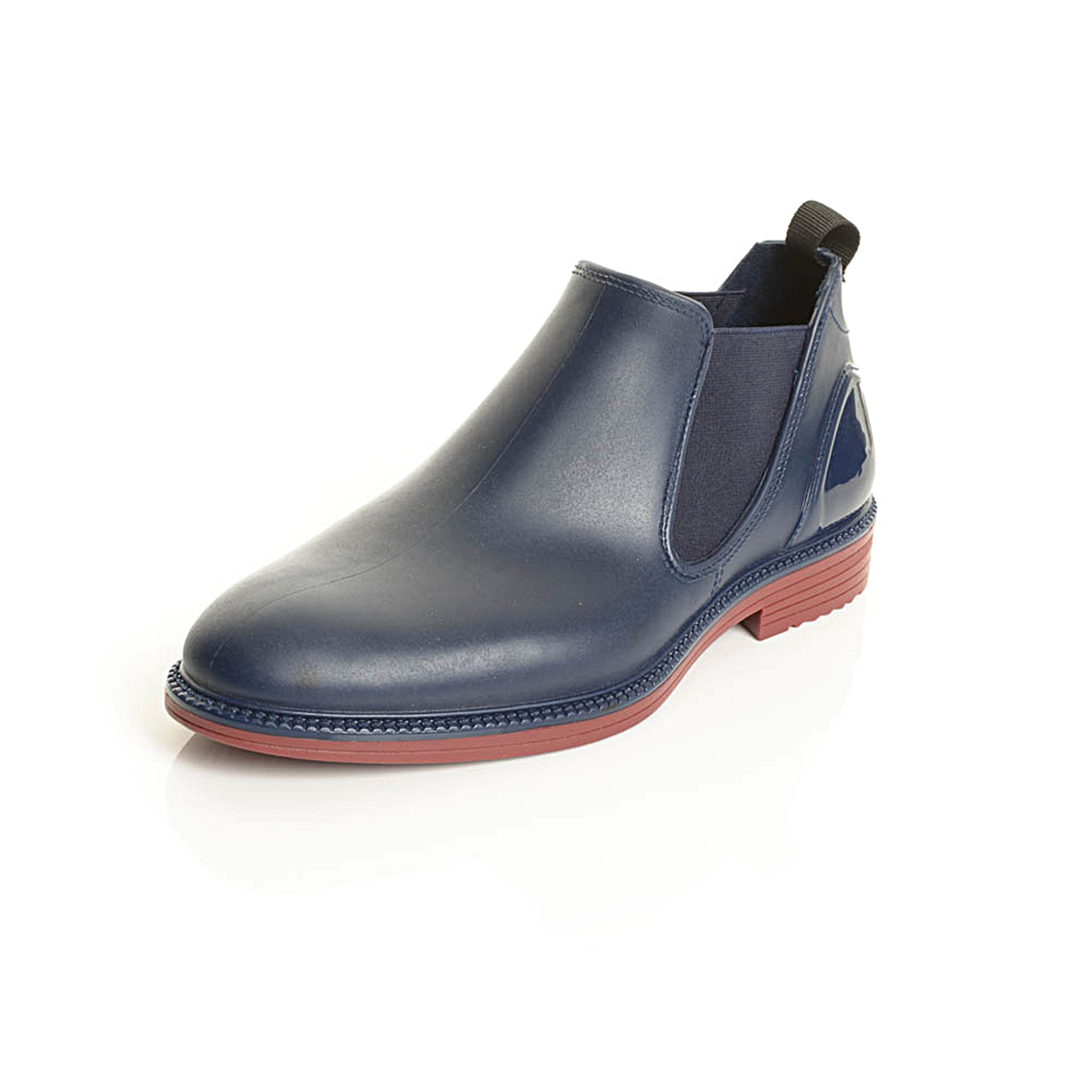 Shop Solo Men's Black Rubber Slip-on Ankle Boots - Free Shipping Today -  Overstock.com - 13787141