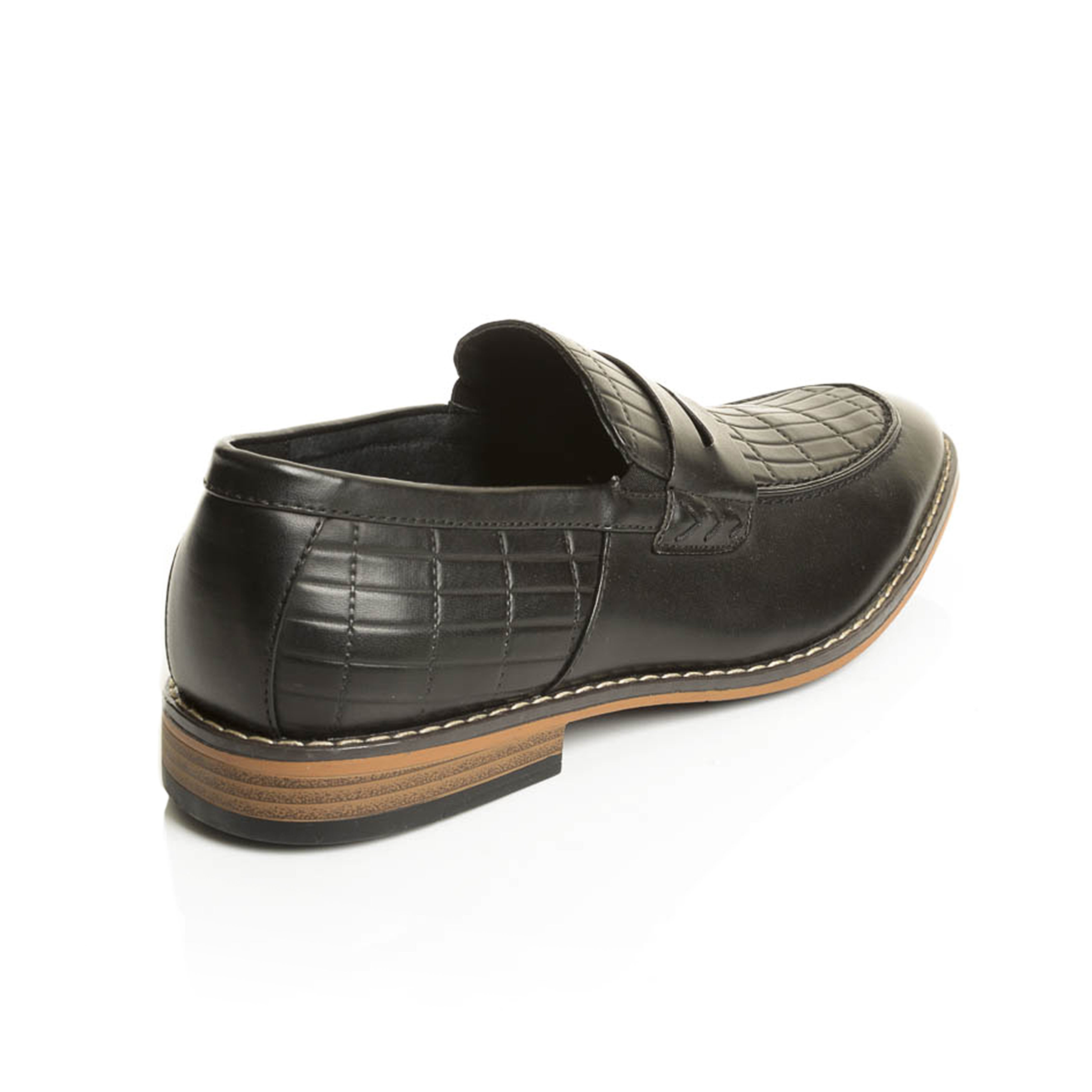 3db3fa1be5f Shop henry ferrera collection mens slip on penny dress loafers free  shipping today jpg 3500x3500 Mens