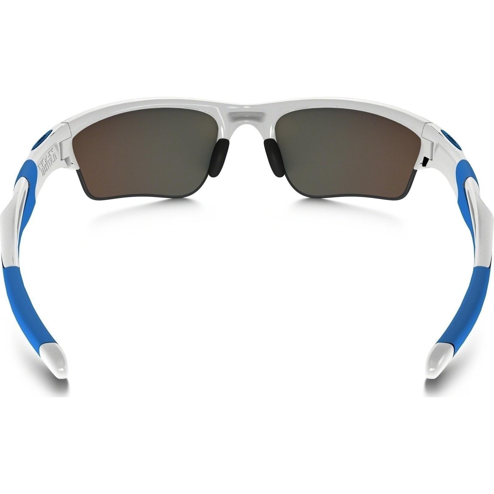 eaced6bab1 Shop Oakley Men s OO9154-54 Half Jacket White Frame Polarized Sapphire  Iridium 62mm Lens Sunglasses - Free Shipping Today - Overstock - 13788317