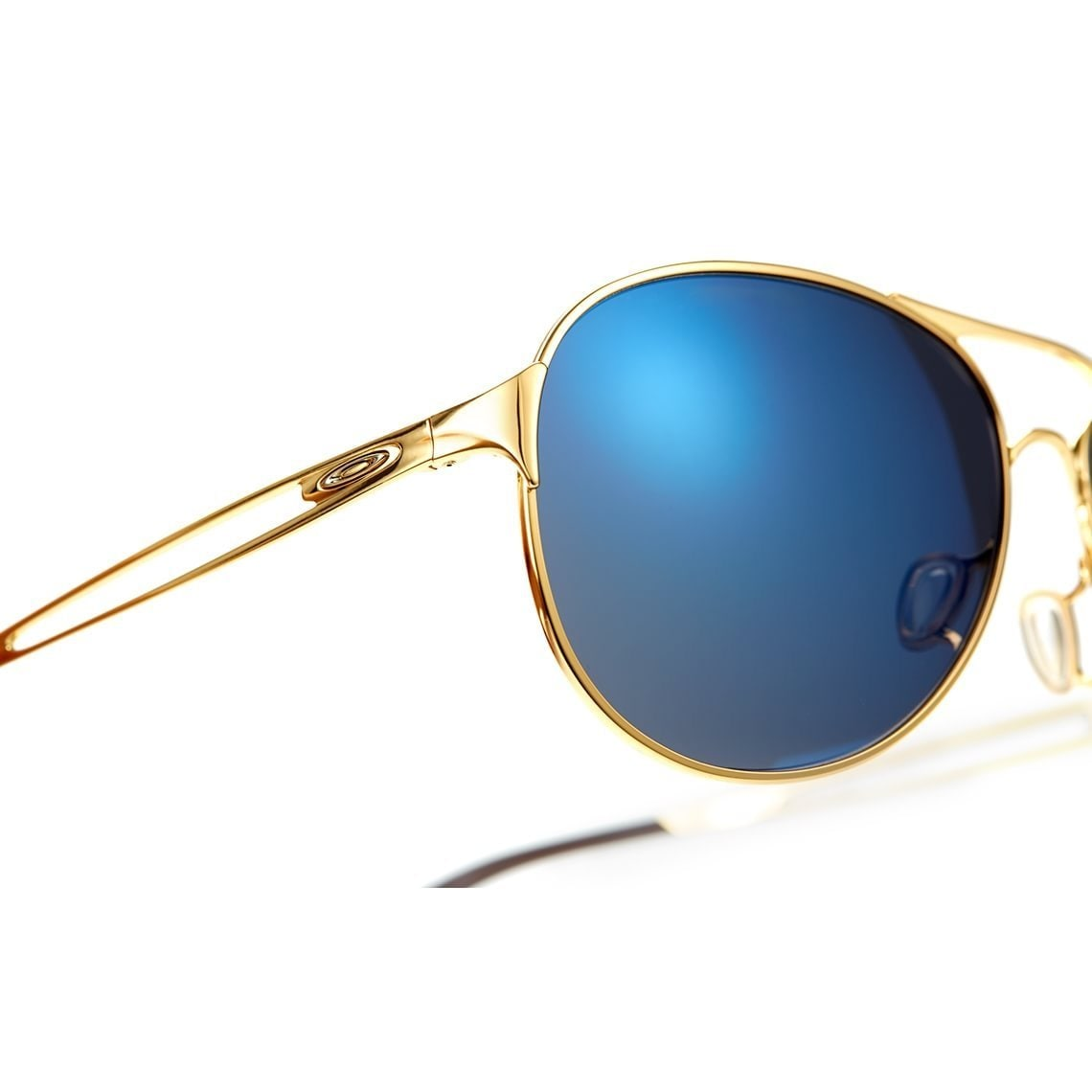 3afef7fbb9712 Shop Oakley Women s OO4054-16 Caveat Polished Gold Frame Ice Iridium 60mm  Lens Sunglasses - Free Shipping Today - Overstock - 13788367